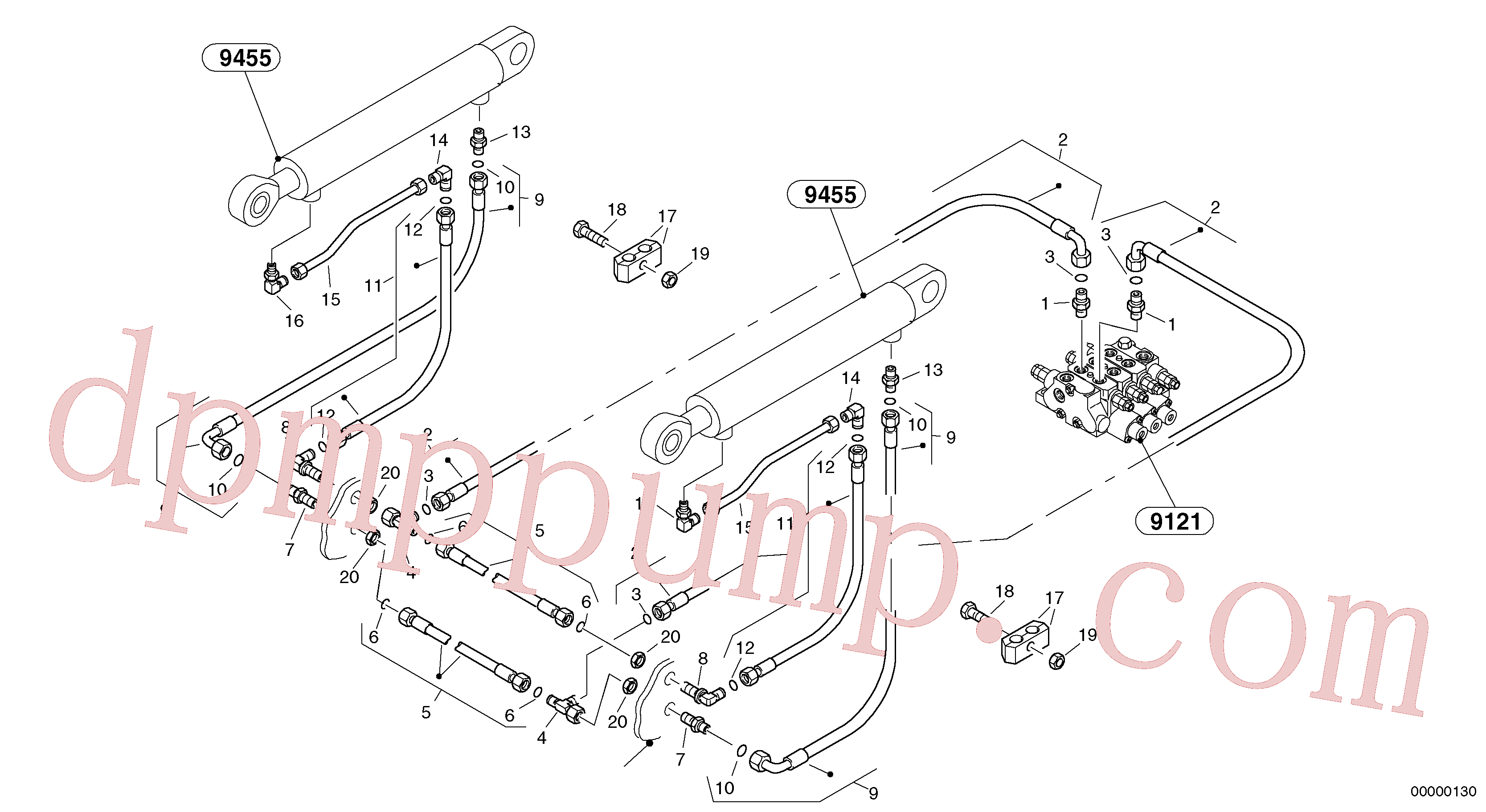 ZM1030071 for Volvo Hydraulic lines - lift hydraulic(00000130 assembly)