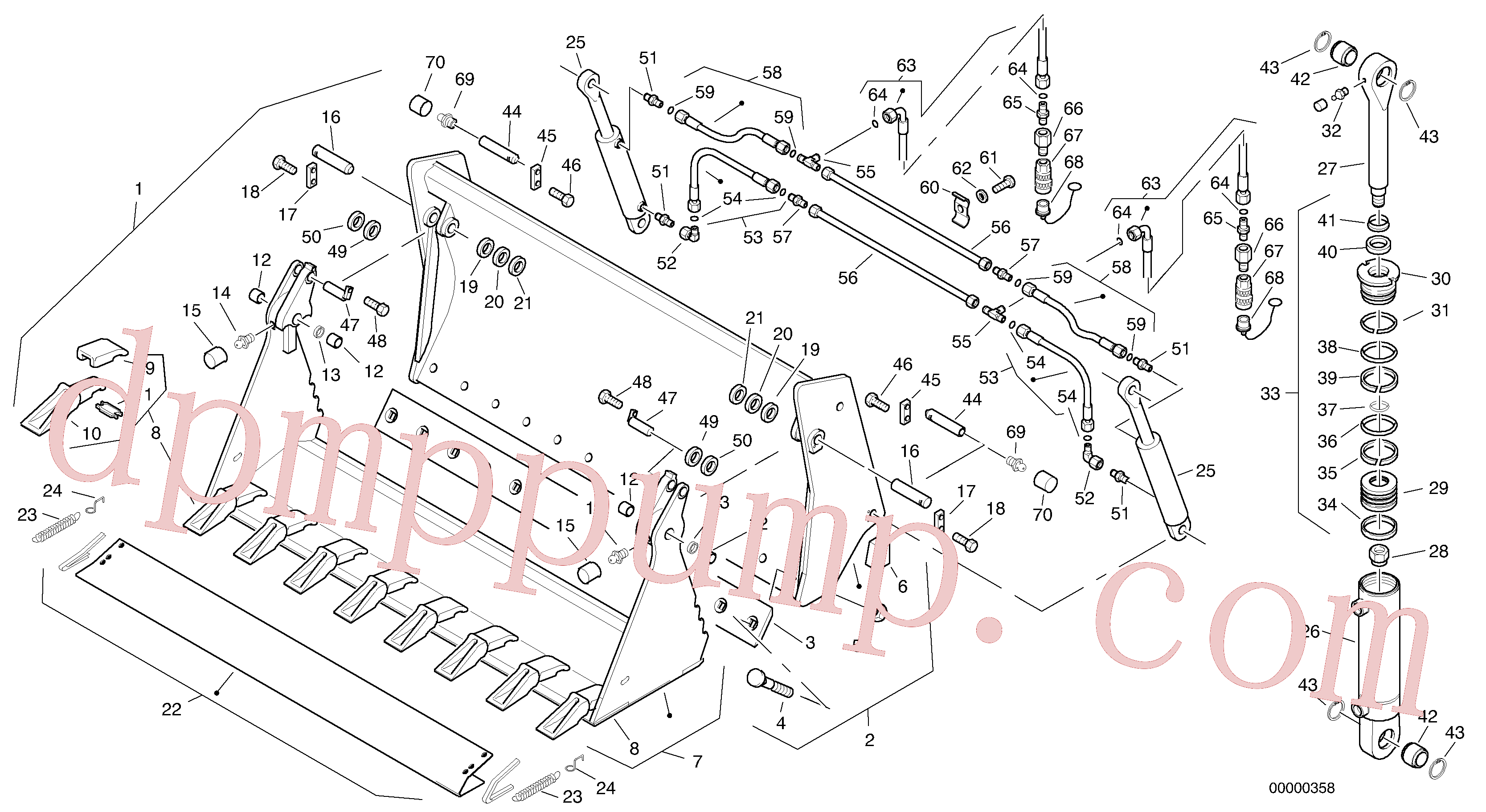 ZM2290847 for Volvo Combined bucket - Tpv(00000358 assembly)