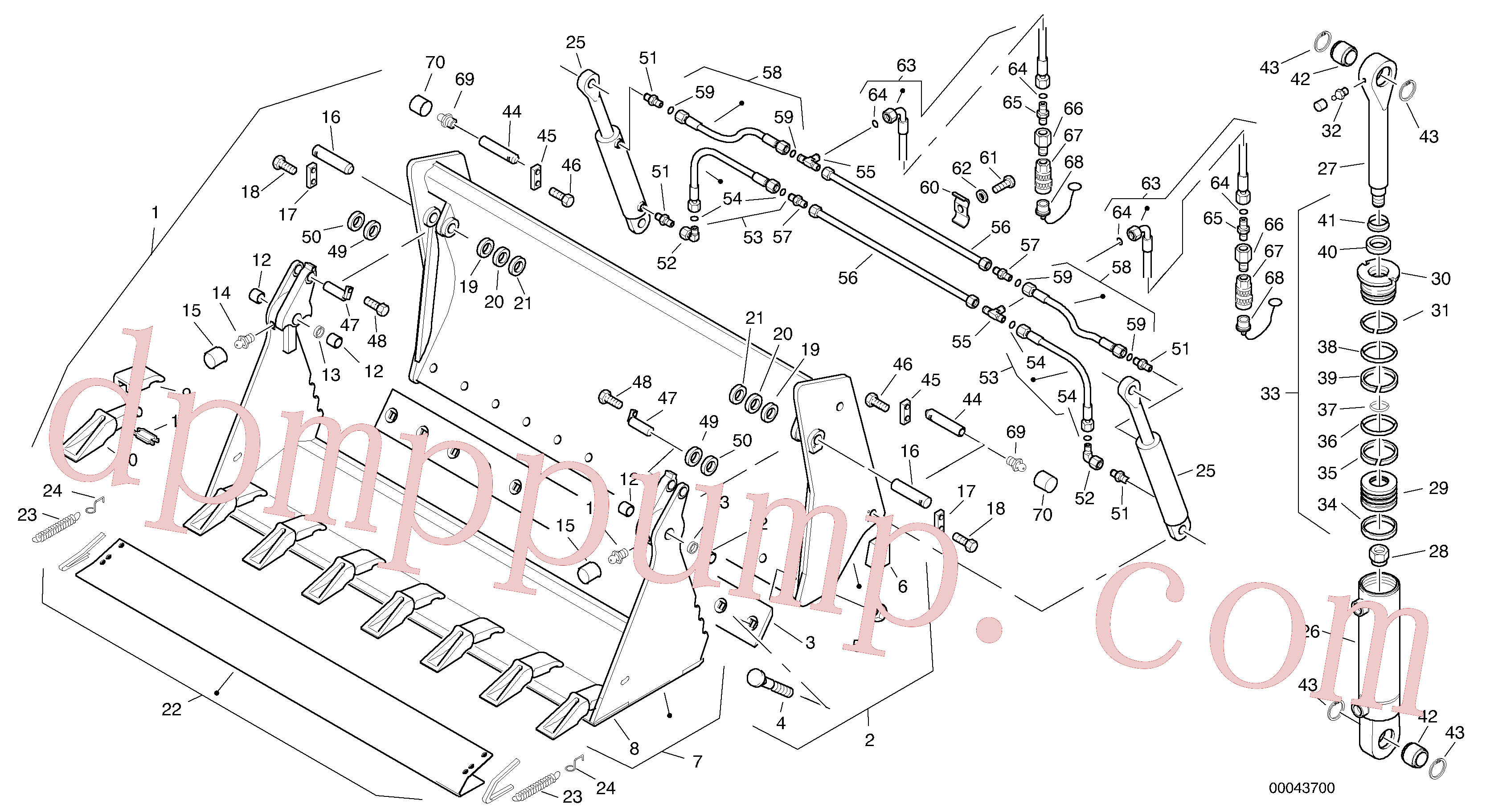 ZM2290847 for Volvo Combined bucket - Tpv(00043700 assembly)