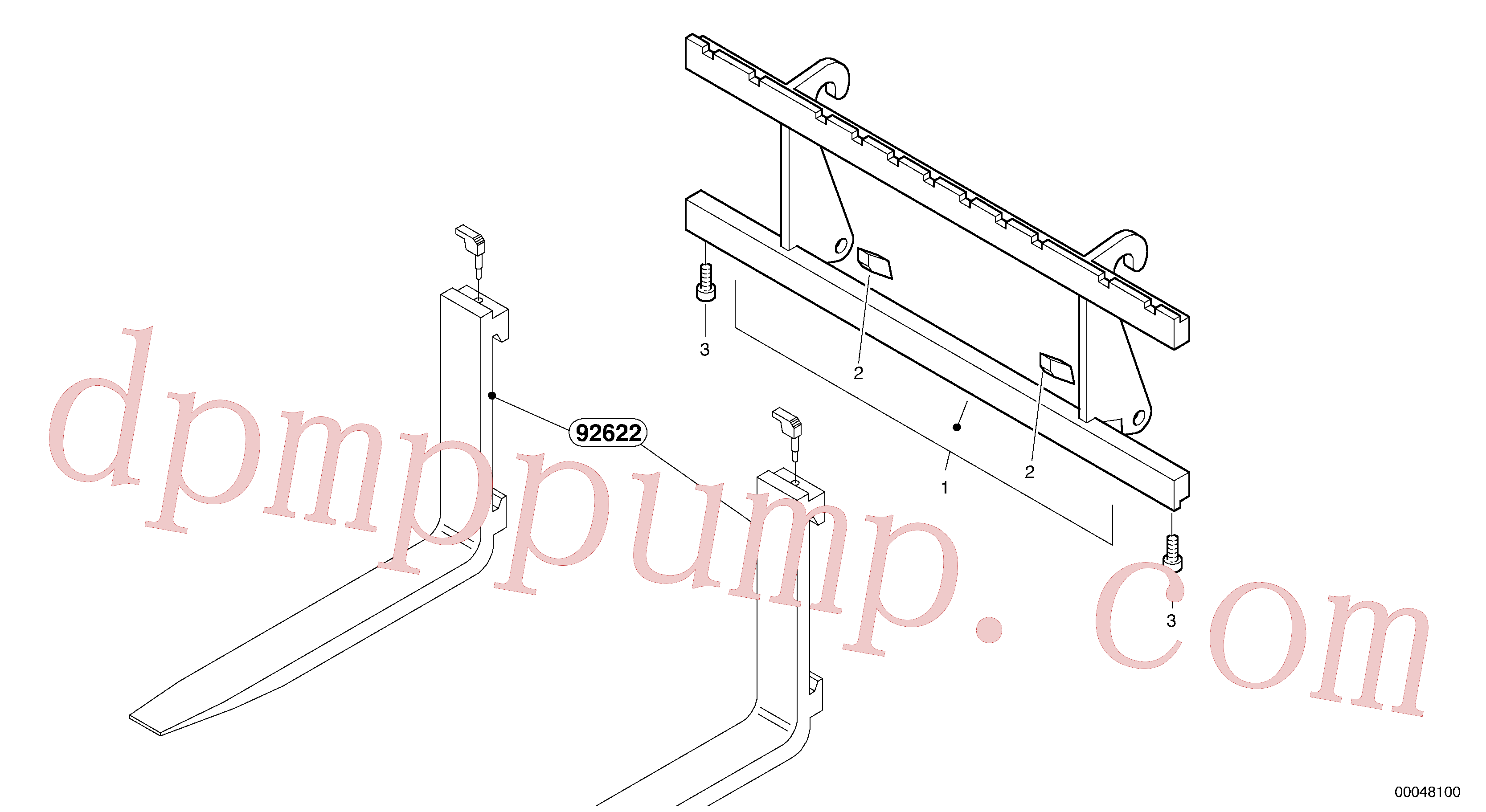 ZM2805037 for Volvo Fork lift attachment support(00048100 assembly)