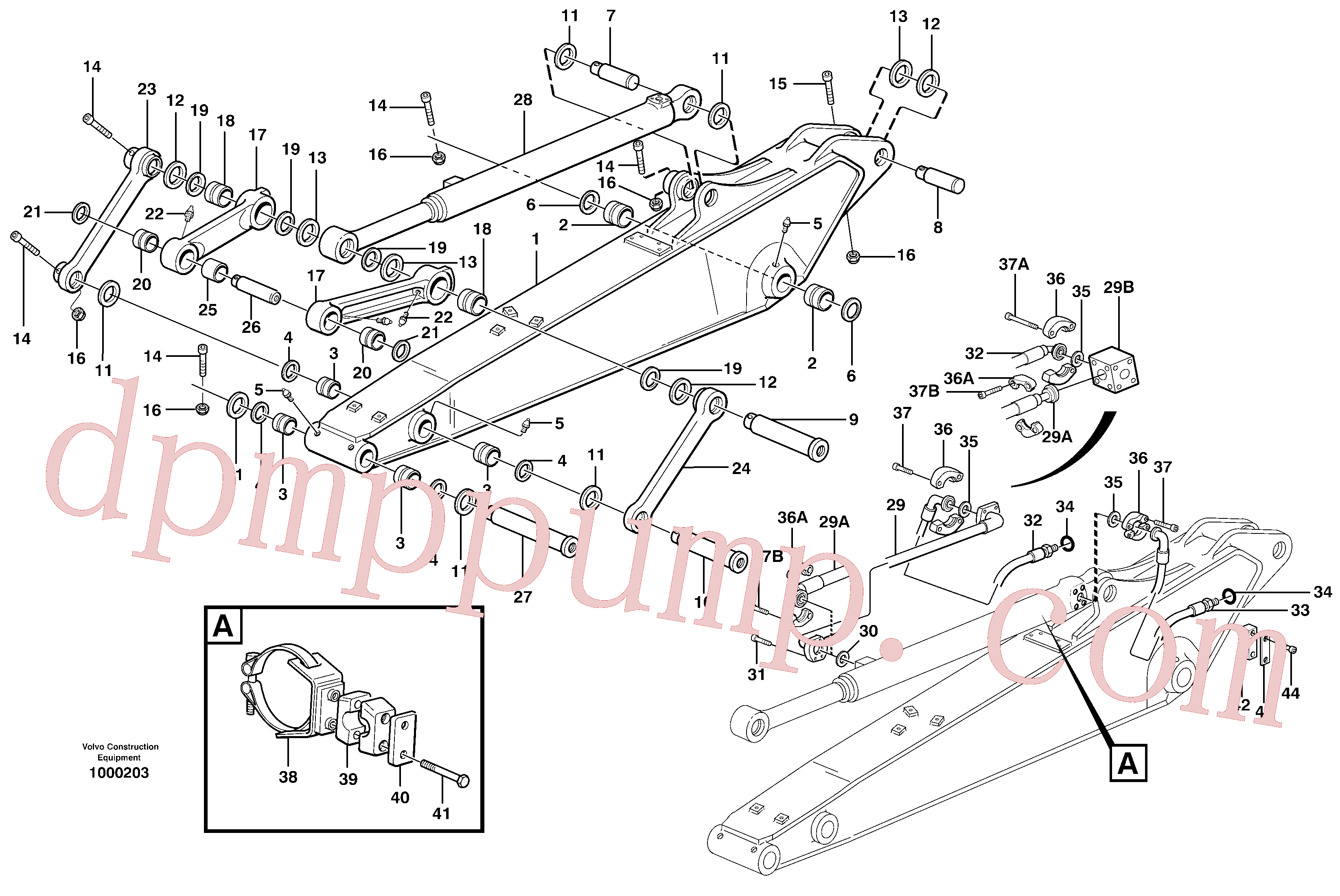 VOE14373277 for Volvo Dipper arm incl. connect.(1000203 assembly)