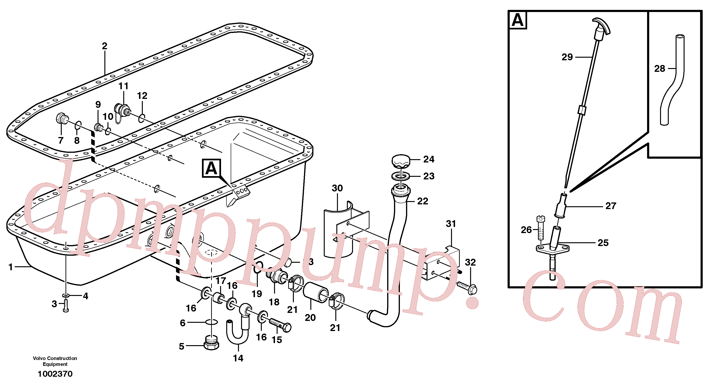 VOE940159 for Volvo Oil sump(1002370 assembly)