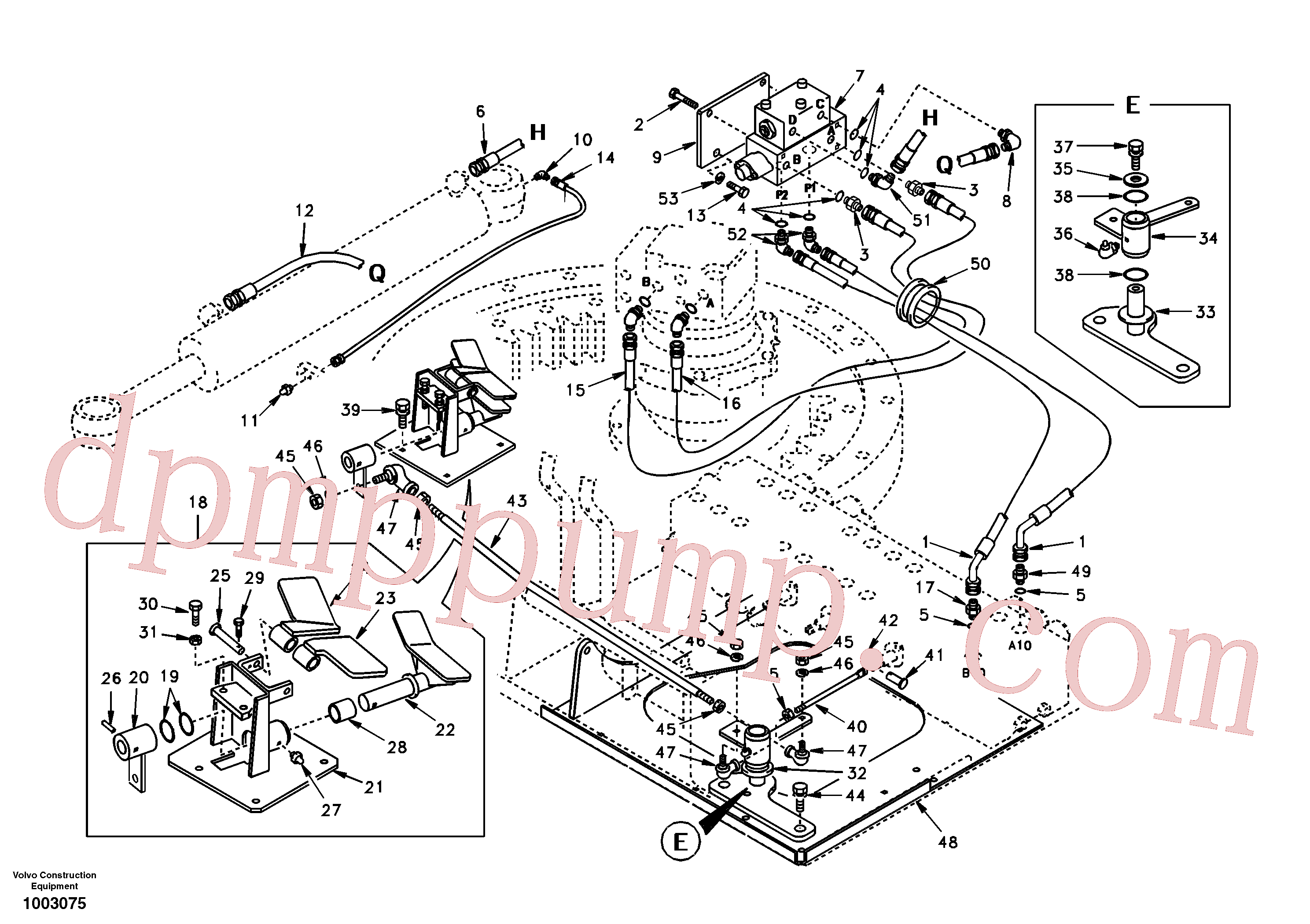 VOE14514583 for Volvo Boom swing system(1003075 assembly)