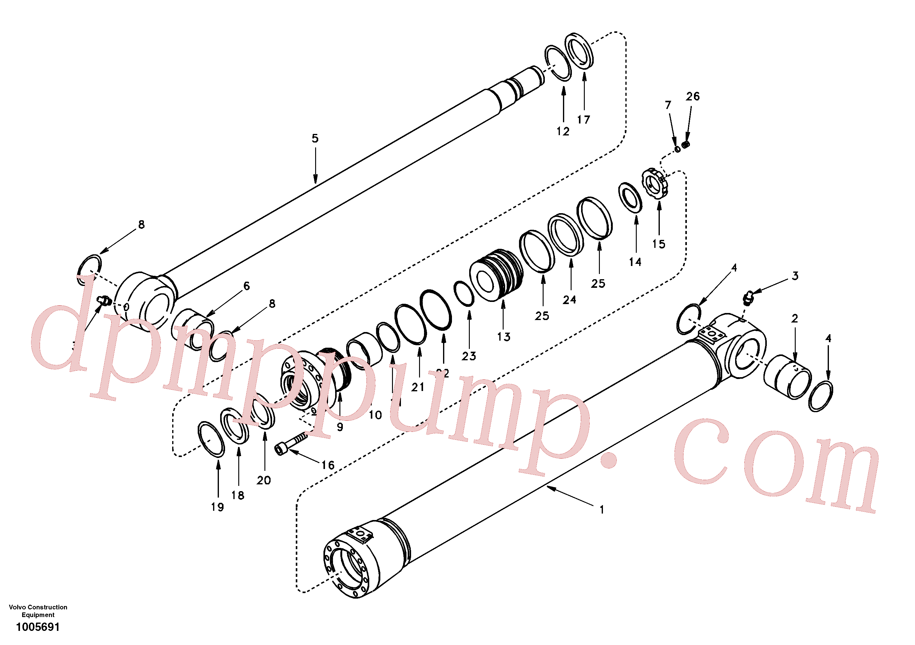 SA9016-12012 for Volvo Boom cylinder 2nd boom(1005691 assembly)