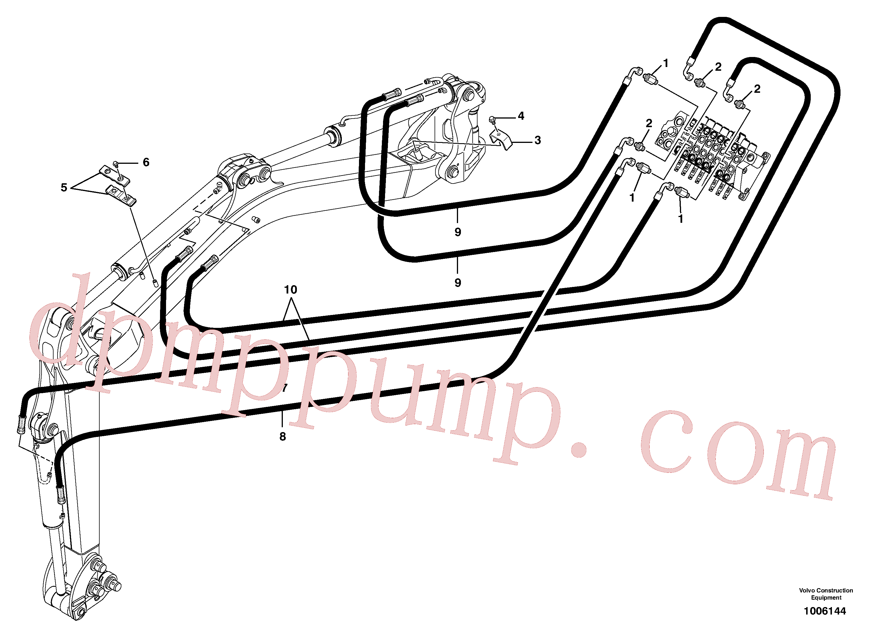 PJ4755032 for Volvo Hydr. circuit.( boom / dipper arm / bucket )(1006144 assembly)