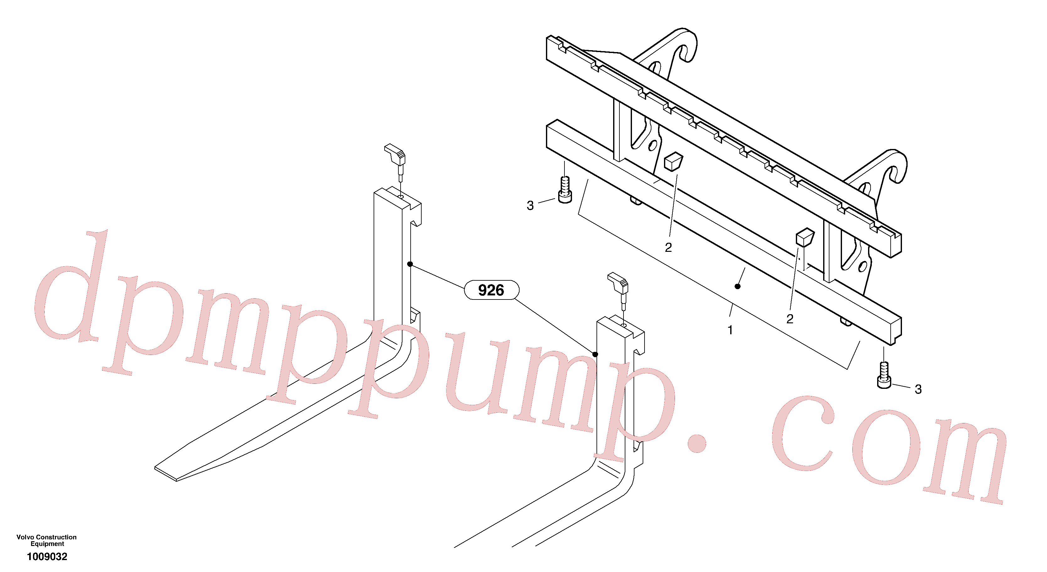ZM2812457 for Volvo Fork lift attachment support(1009032 assembly)