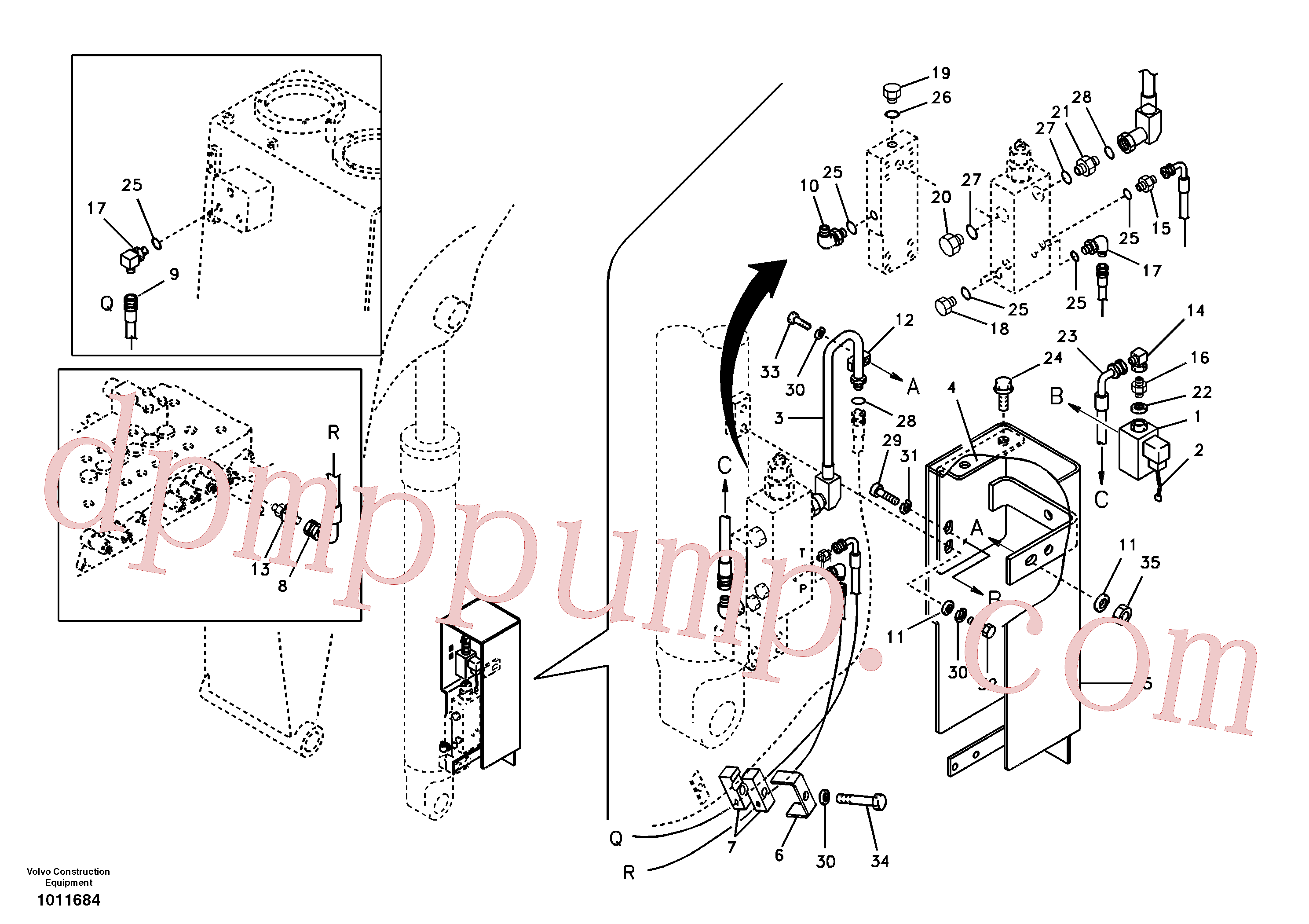 VOE14523765 for Volvo Working hydraulic, boom rupture(1011684 assembly)