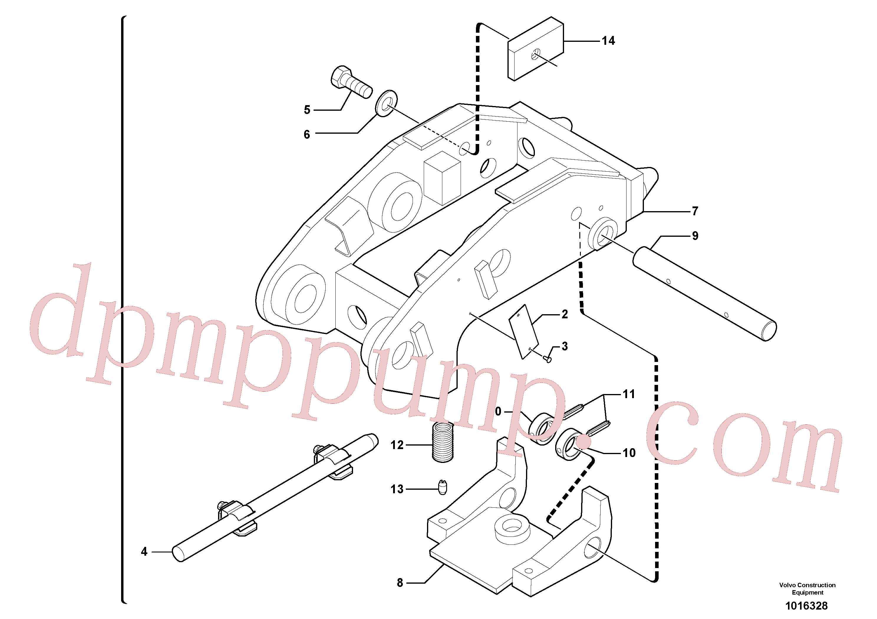 PJ3870094 for Volvo Tool holder / mechanical control(1016328 assembly)