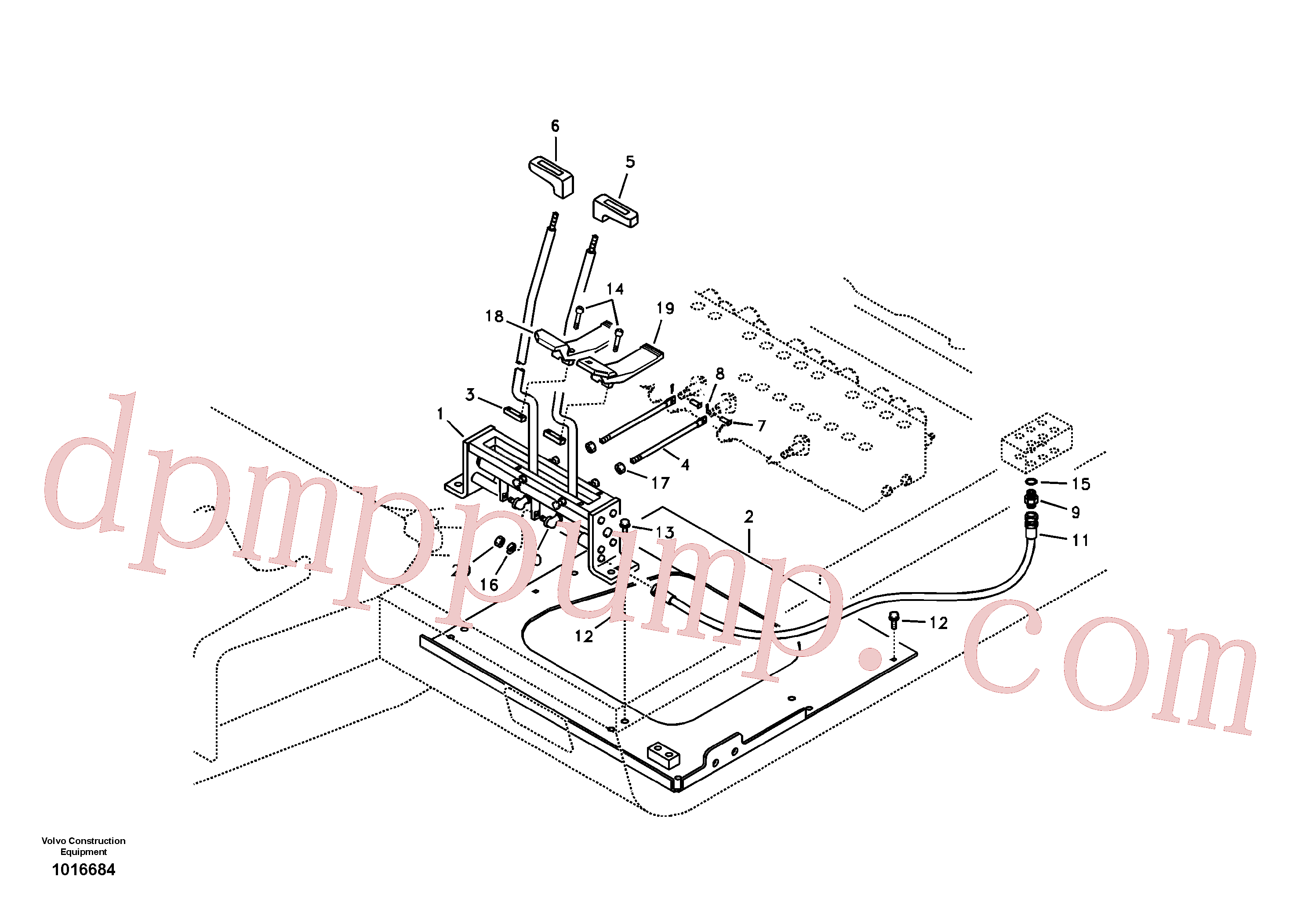 VOE14518924 for Volvo Control links, travel(1016684 assembly)
