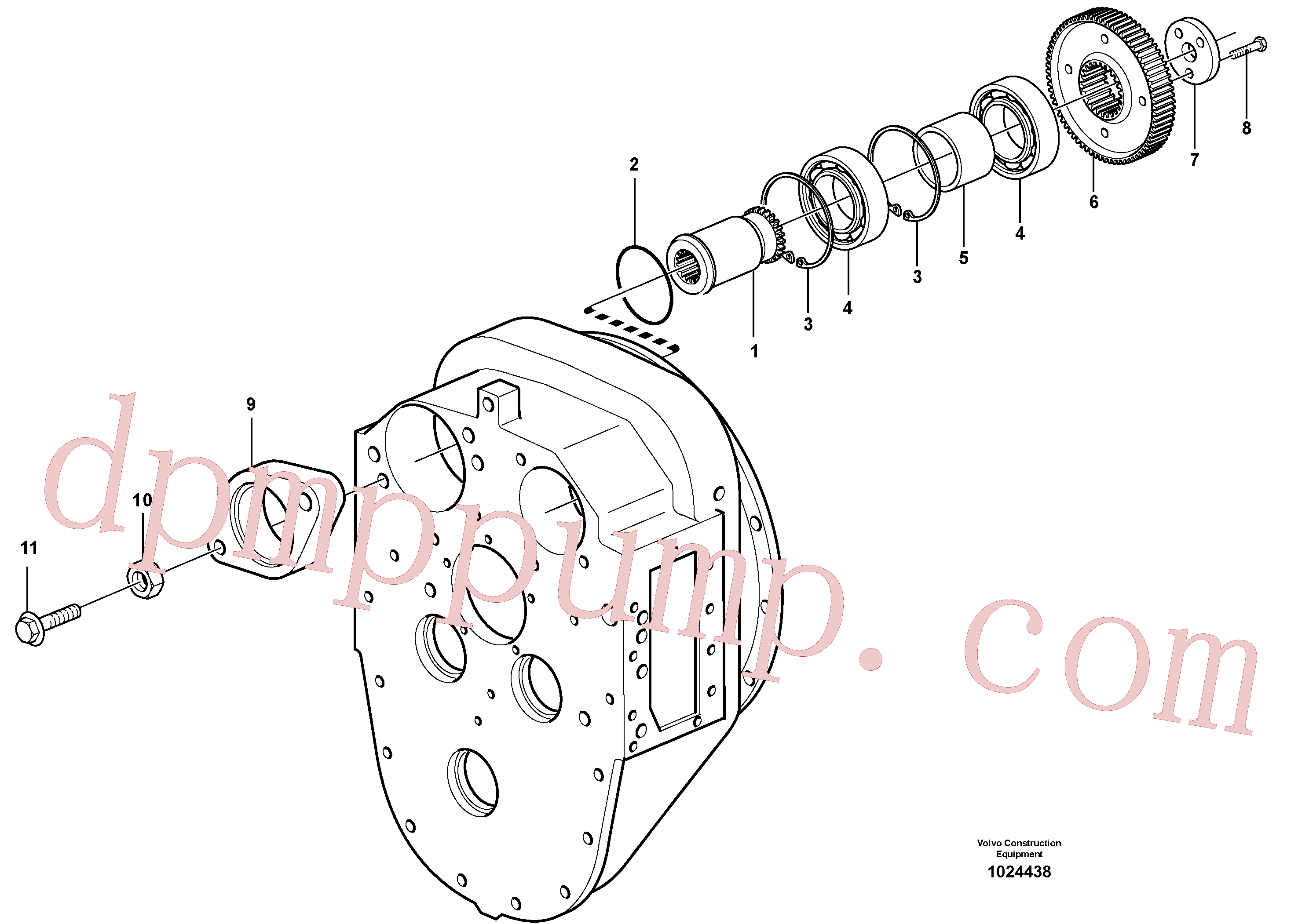 SA9541-02100 for Volvo Pump drive(1024438 assembly)