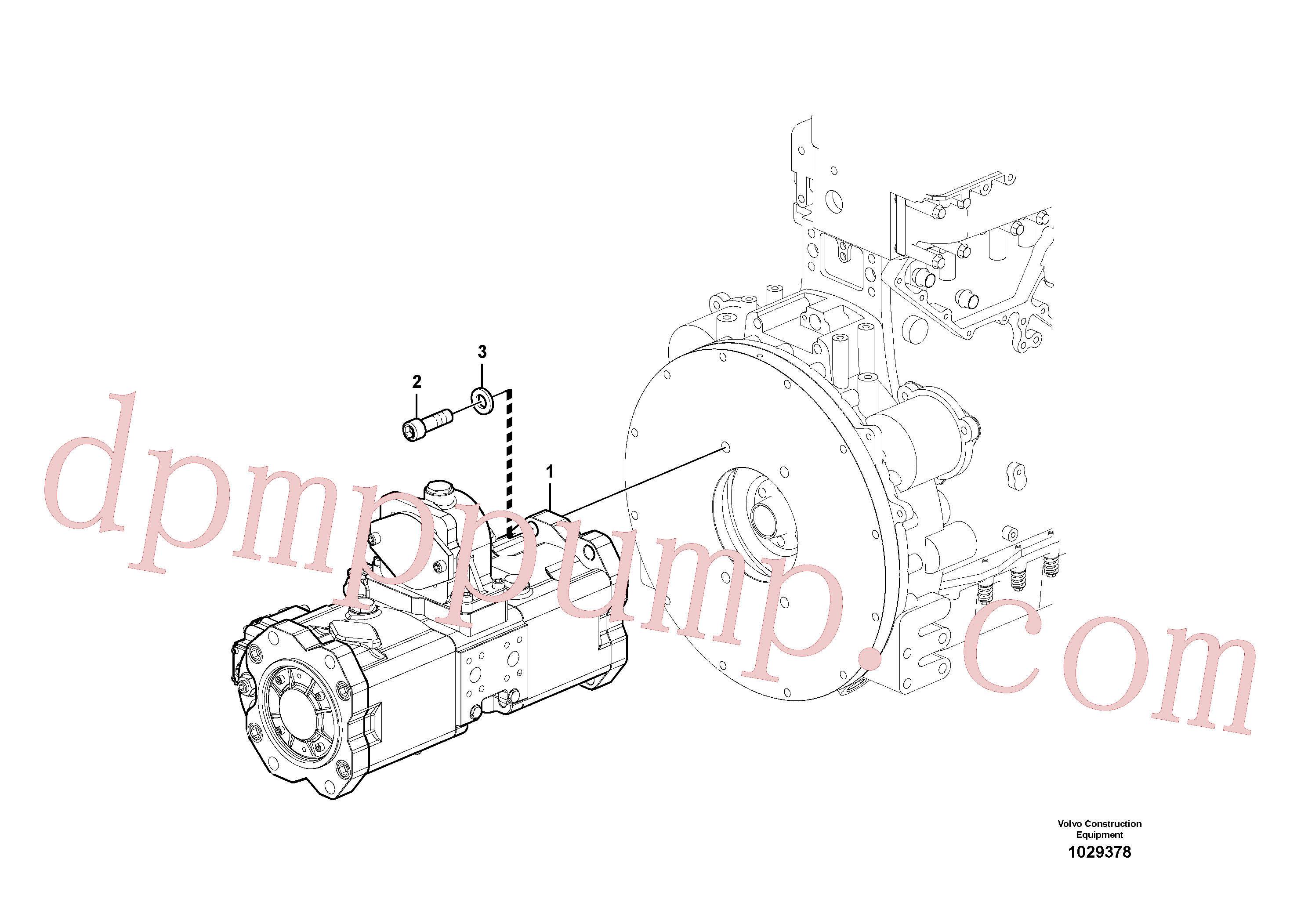VOE14638306 for Volvo Pump installation(1029378 assembly)