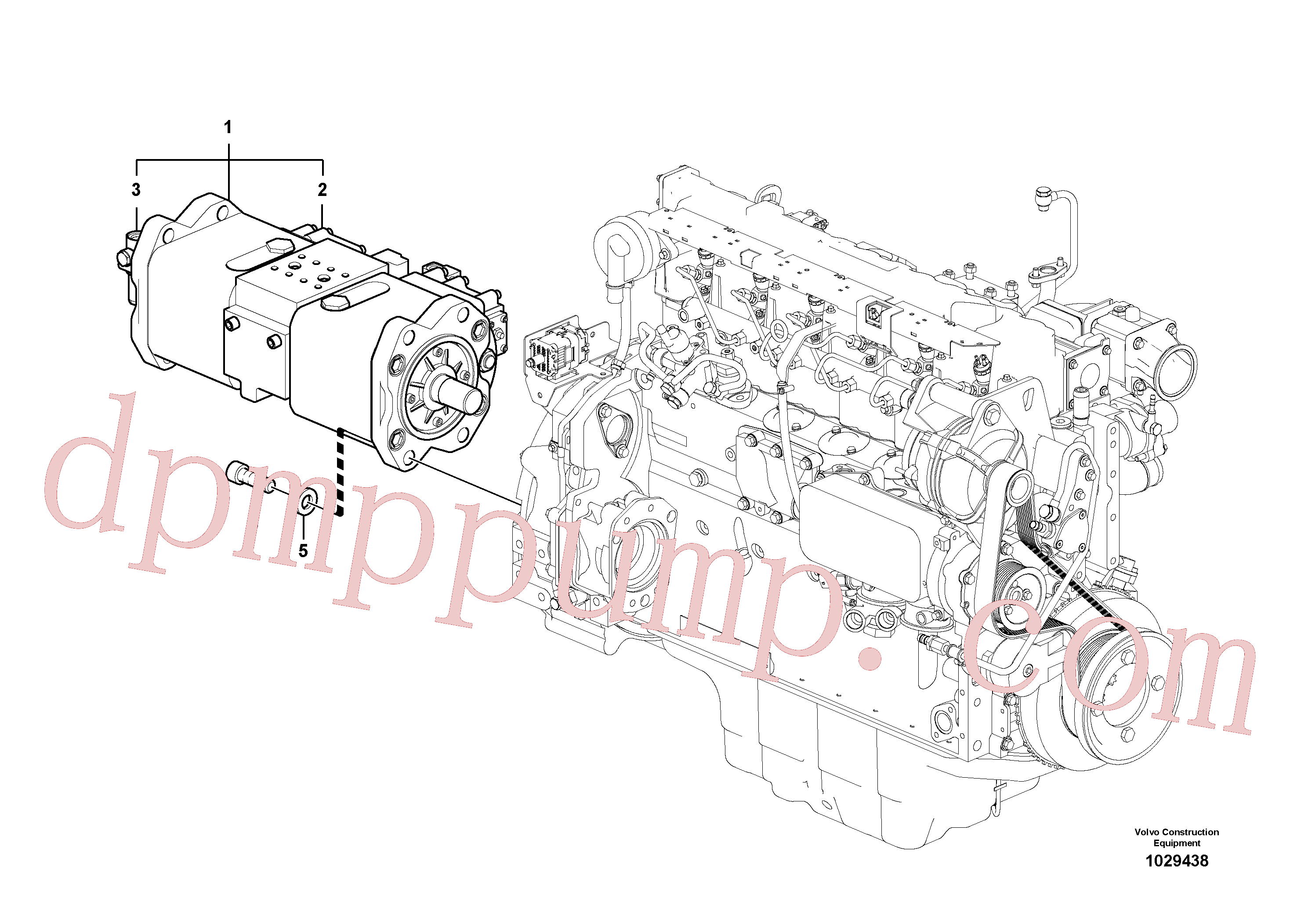 VOE14641331 for Volvo Pump installation(1029438 assembly)