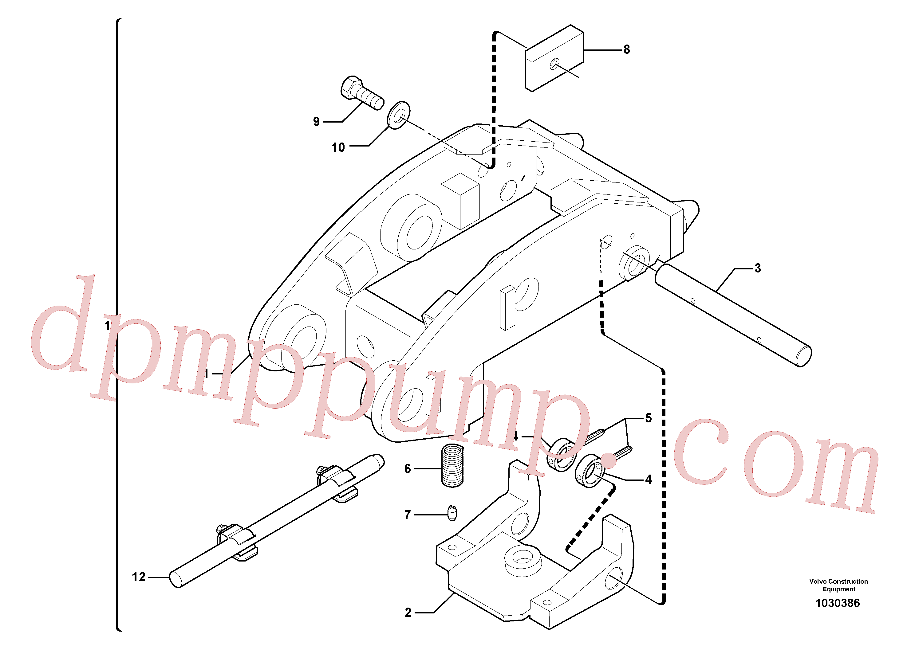 PJ3870094 for Volvo Tool holder / mechanical control(1030386 assembly)