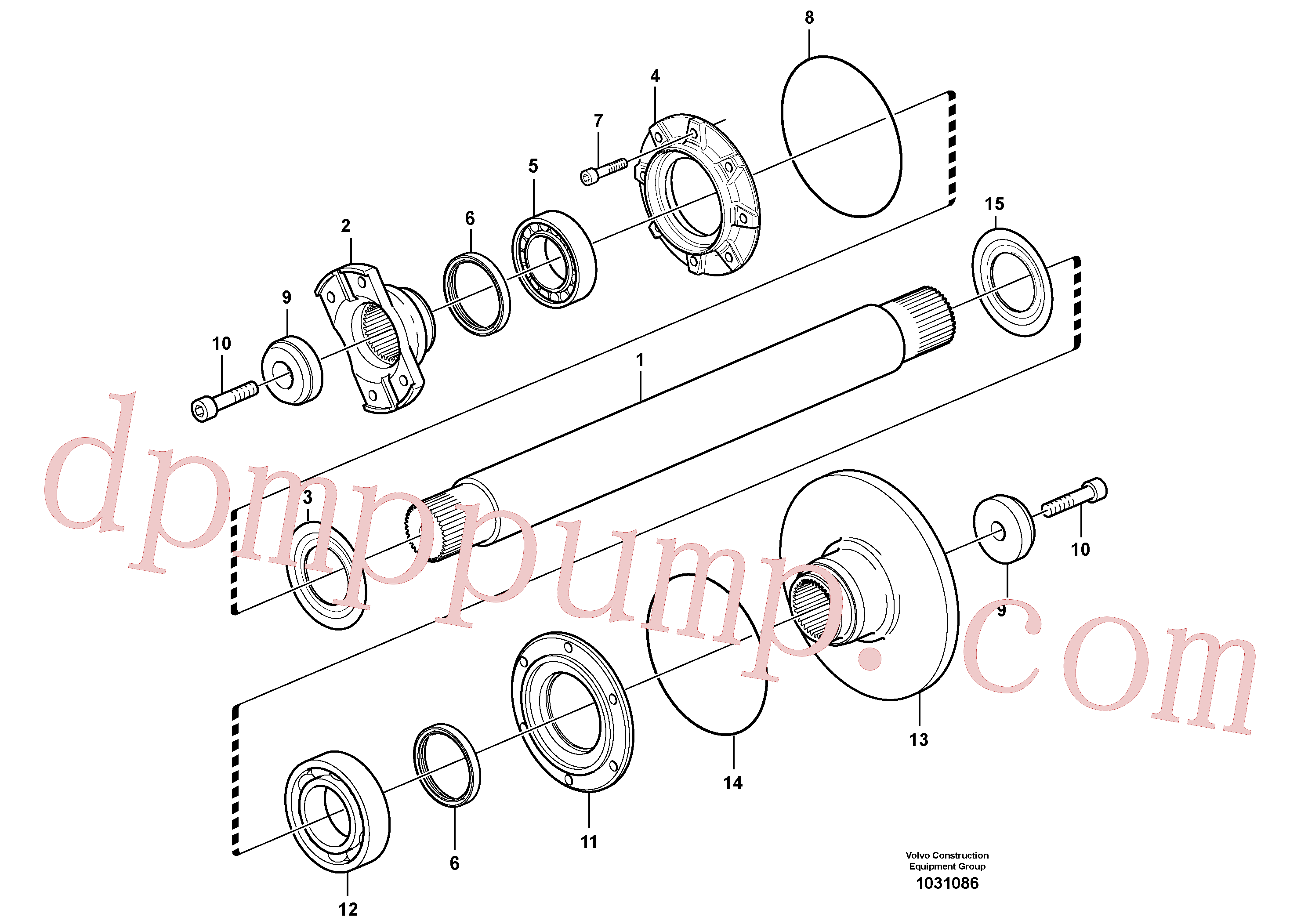 VOE11194467 for Volvo Intermediate shaft(1031086 assembly)