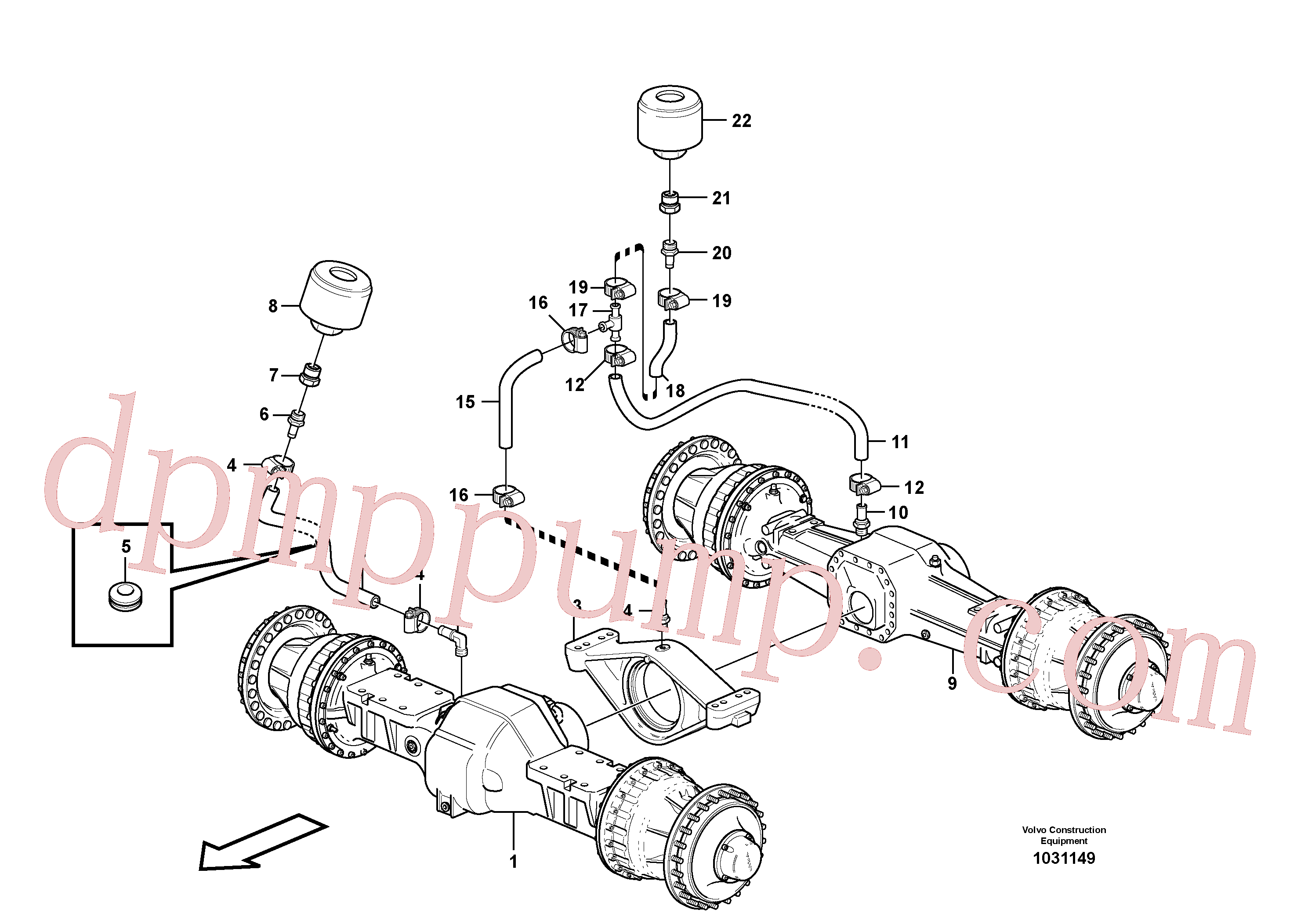VOE13961192 for Volvo Venting, planet shafts(1031149 assembly)