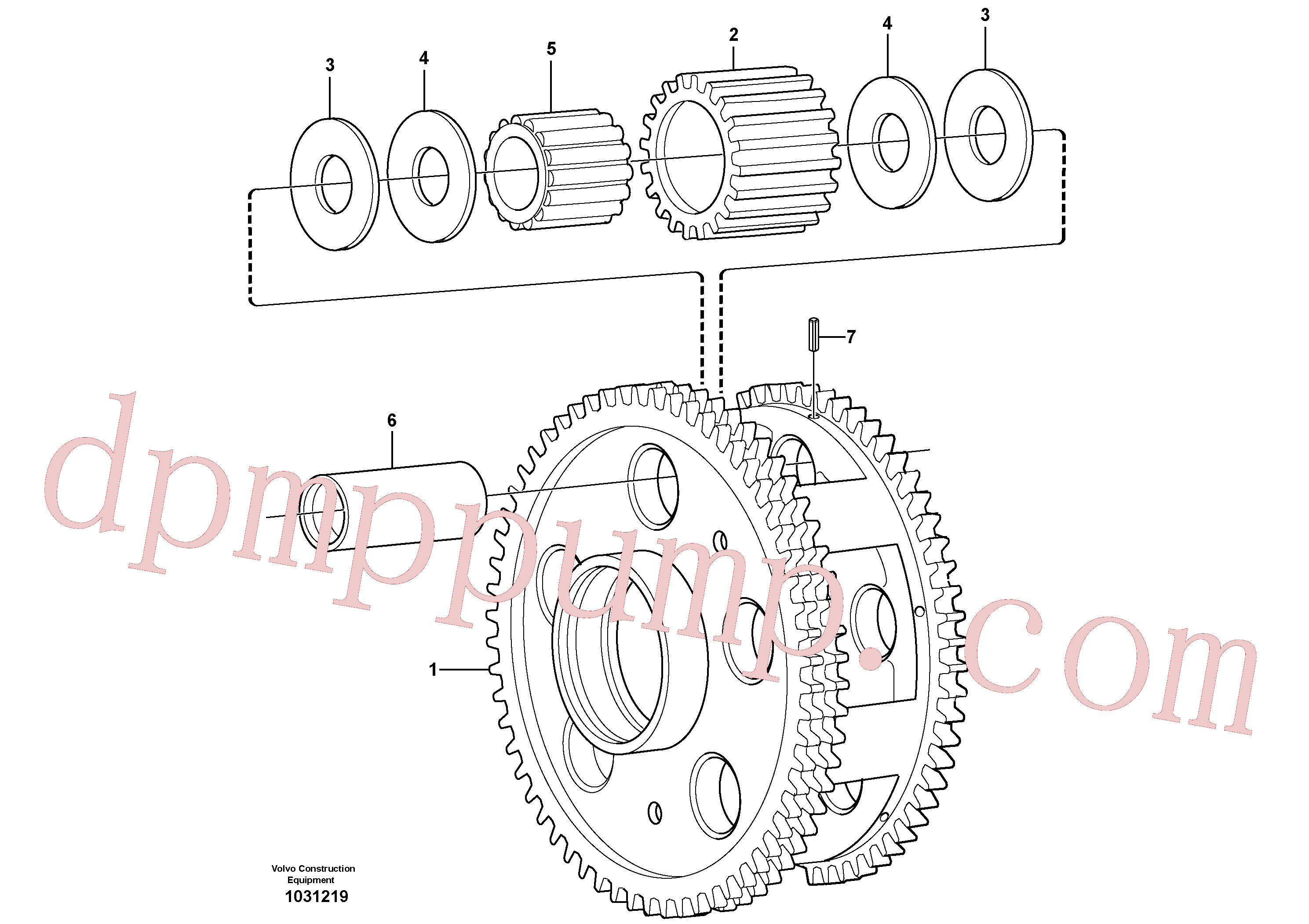 VOE17235294 for Volvo Planet kit, stage 3(1031219 assembly)