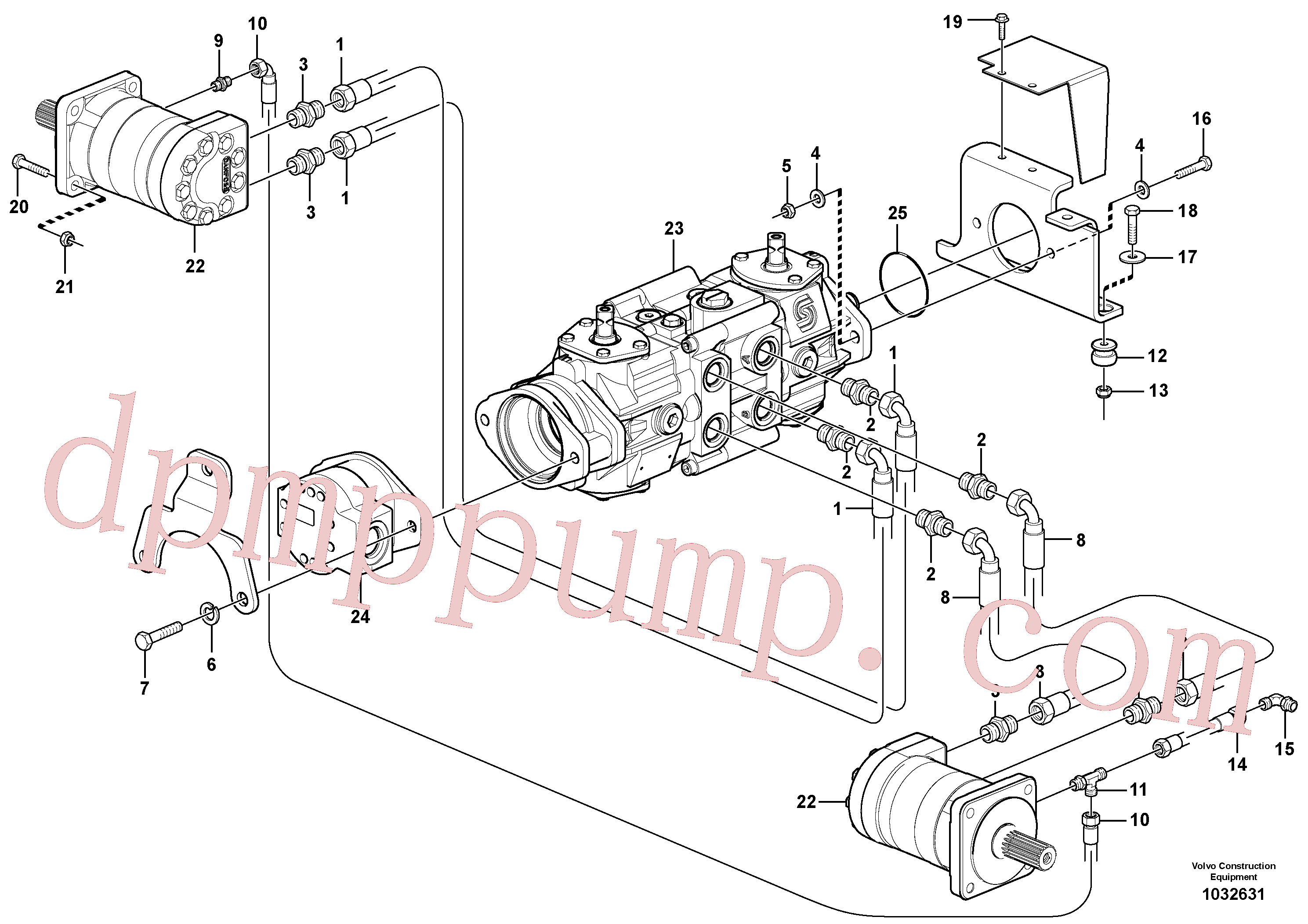 VOE11841178 for Volvo Hydraulic system Transport(1032631 assembly)