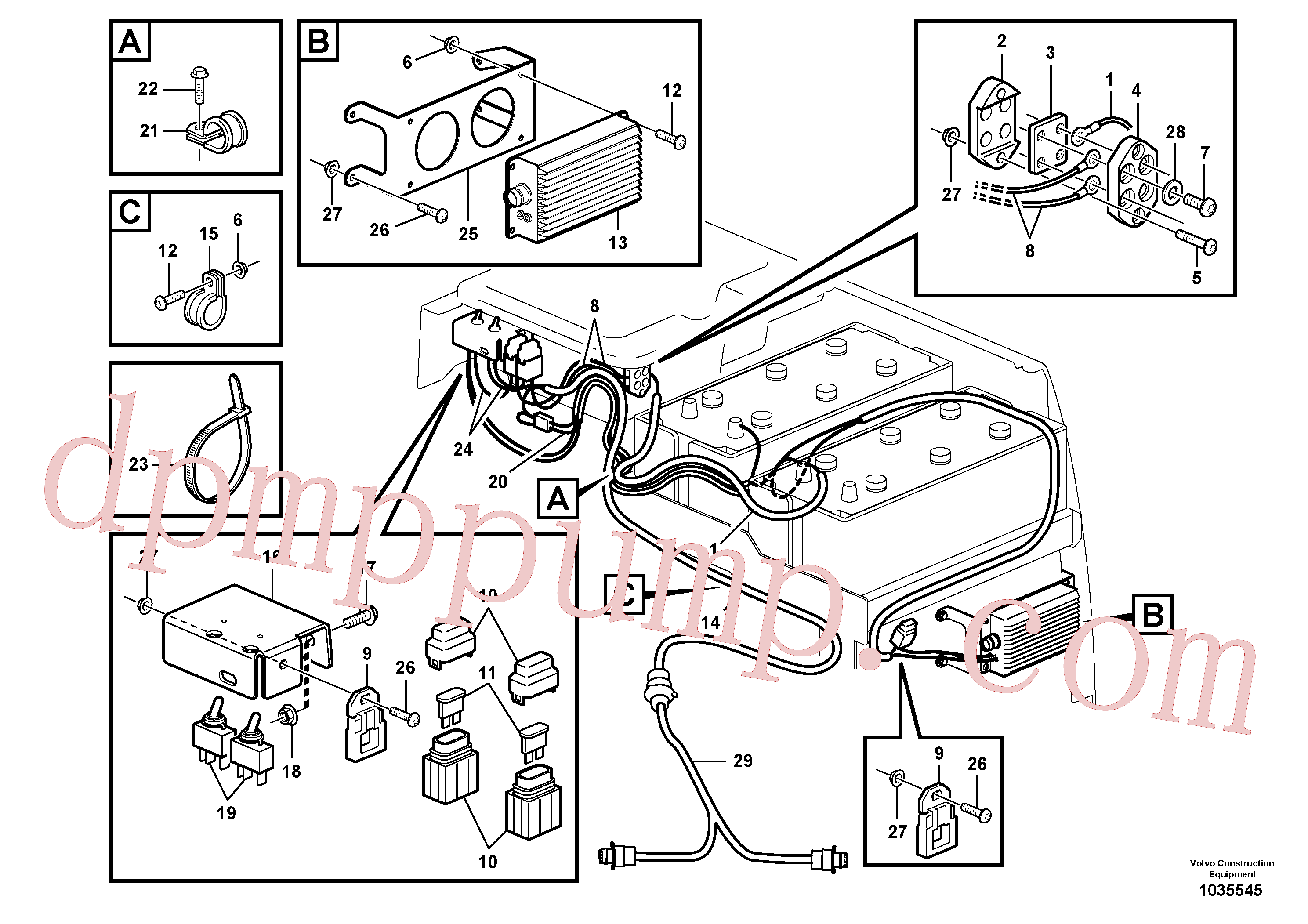 VOE11039713 for Volvo Cable harnesses, Siberia kit(1035545 assembly)