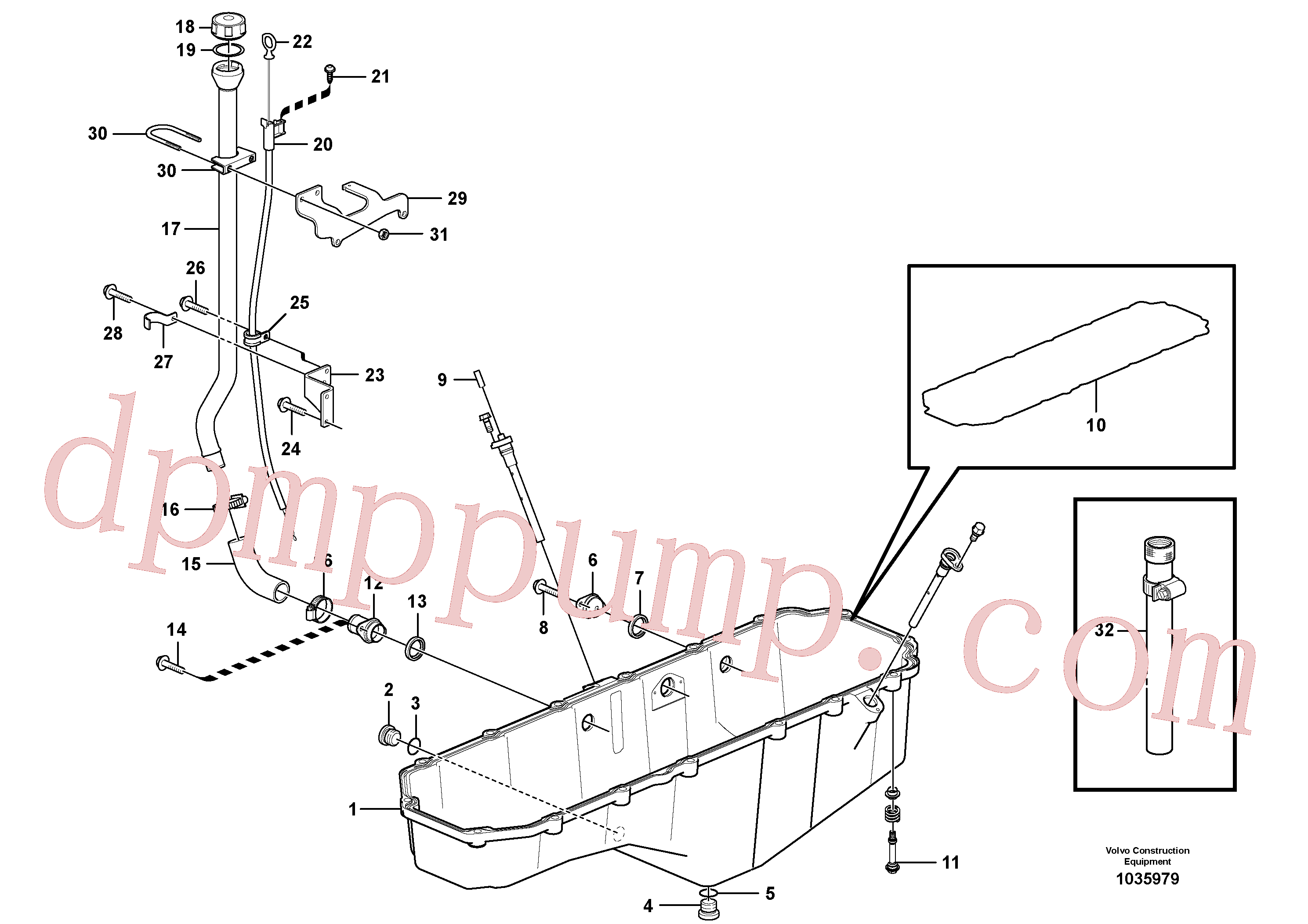 VOE1275379 for Volvo Oil sump(1035979 assembly)