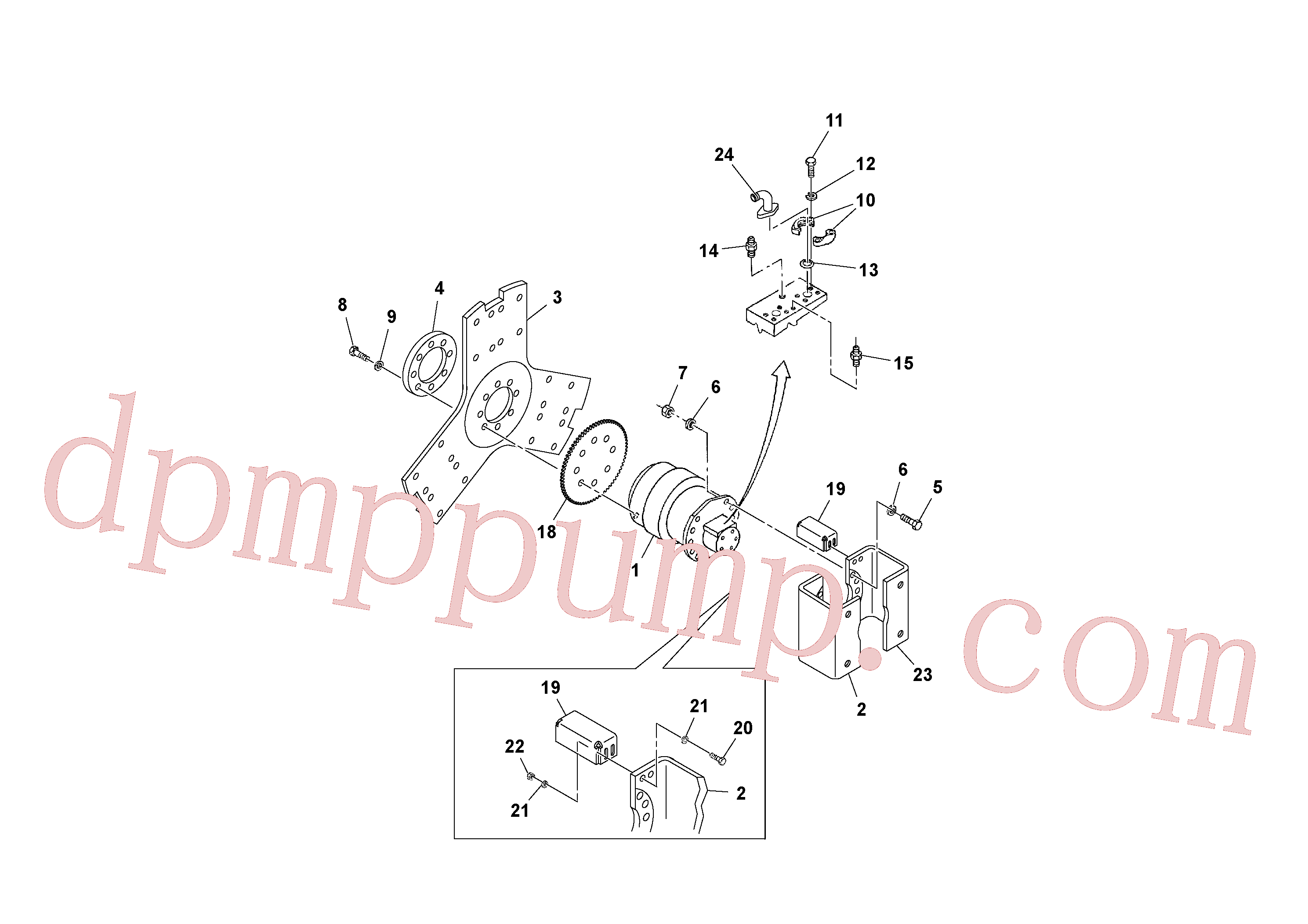 RM96704309 for Volvo Drum Drive Assembly(1036737 assembly)