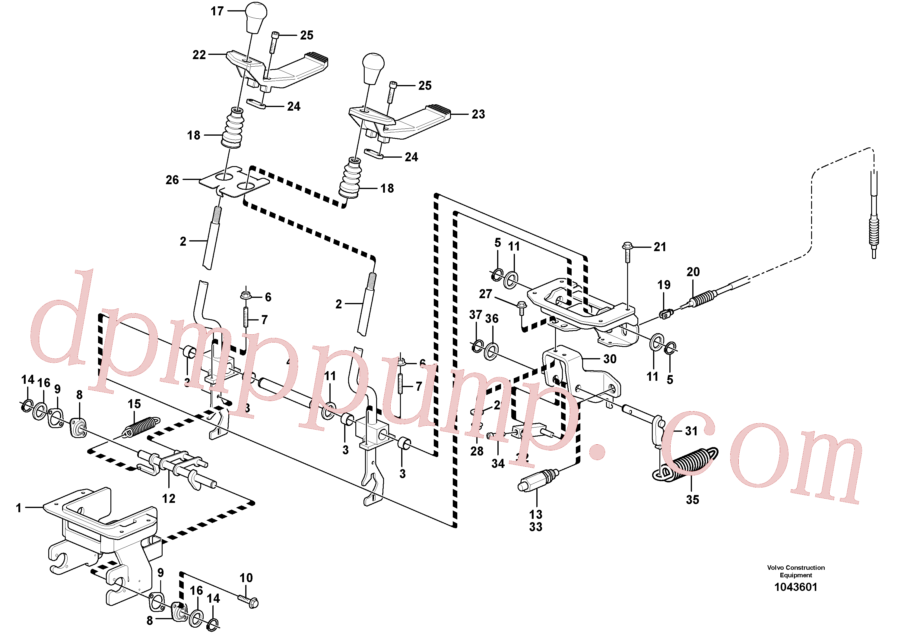 VOE120797 for Volvo Control levers : travelling(1043601 assembly)