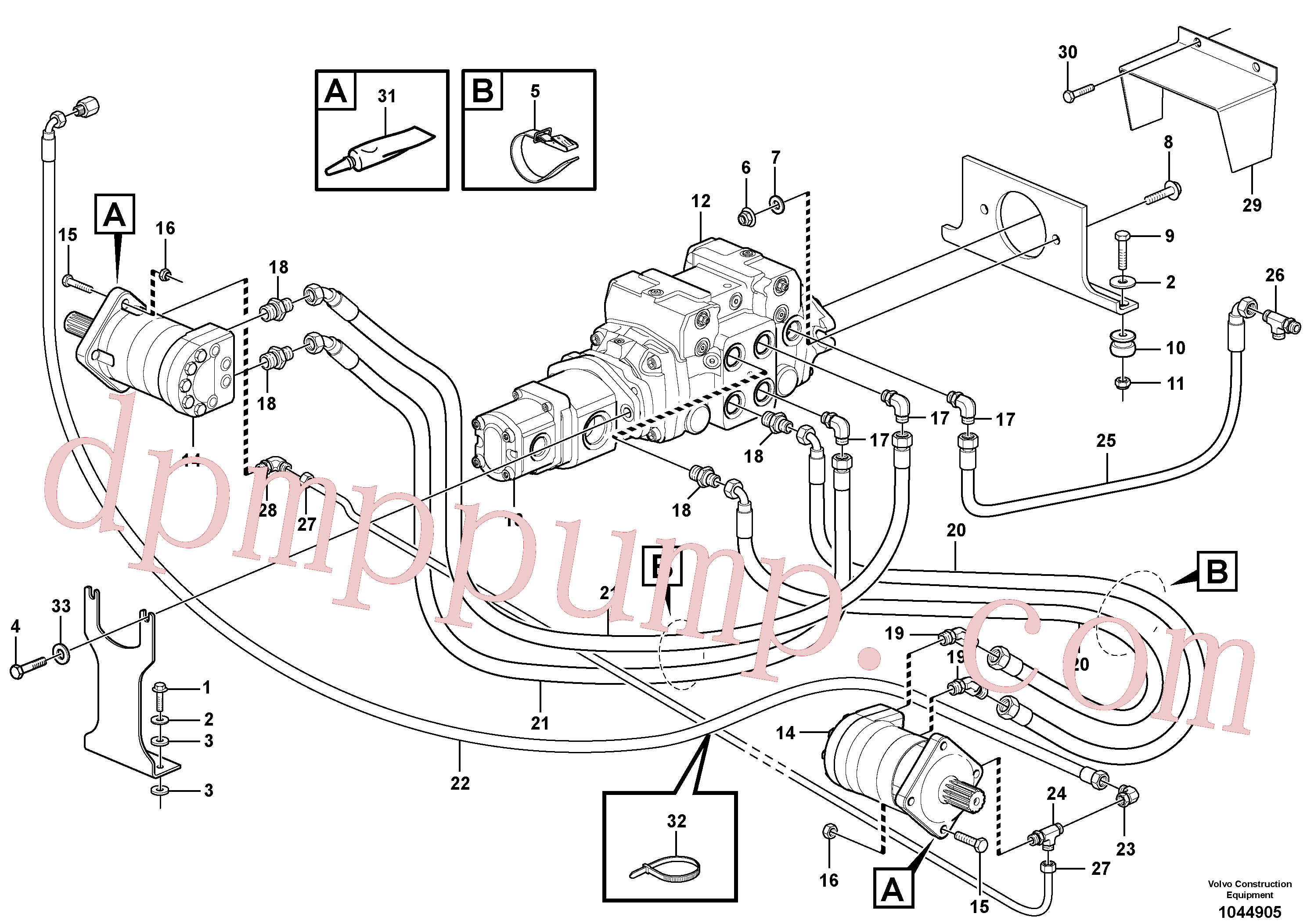 VOE11841178 for Volvo Hydraulic system Transport(1044905 assembly)