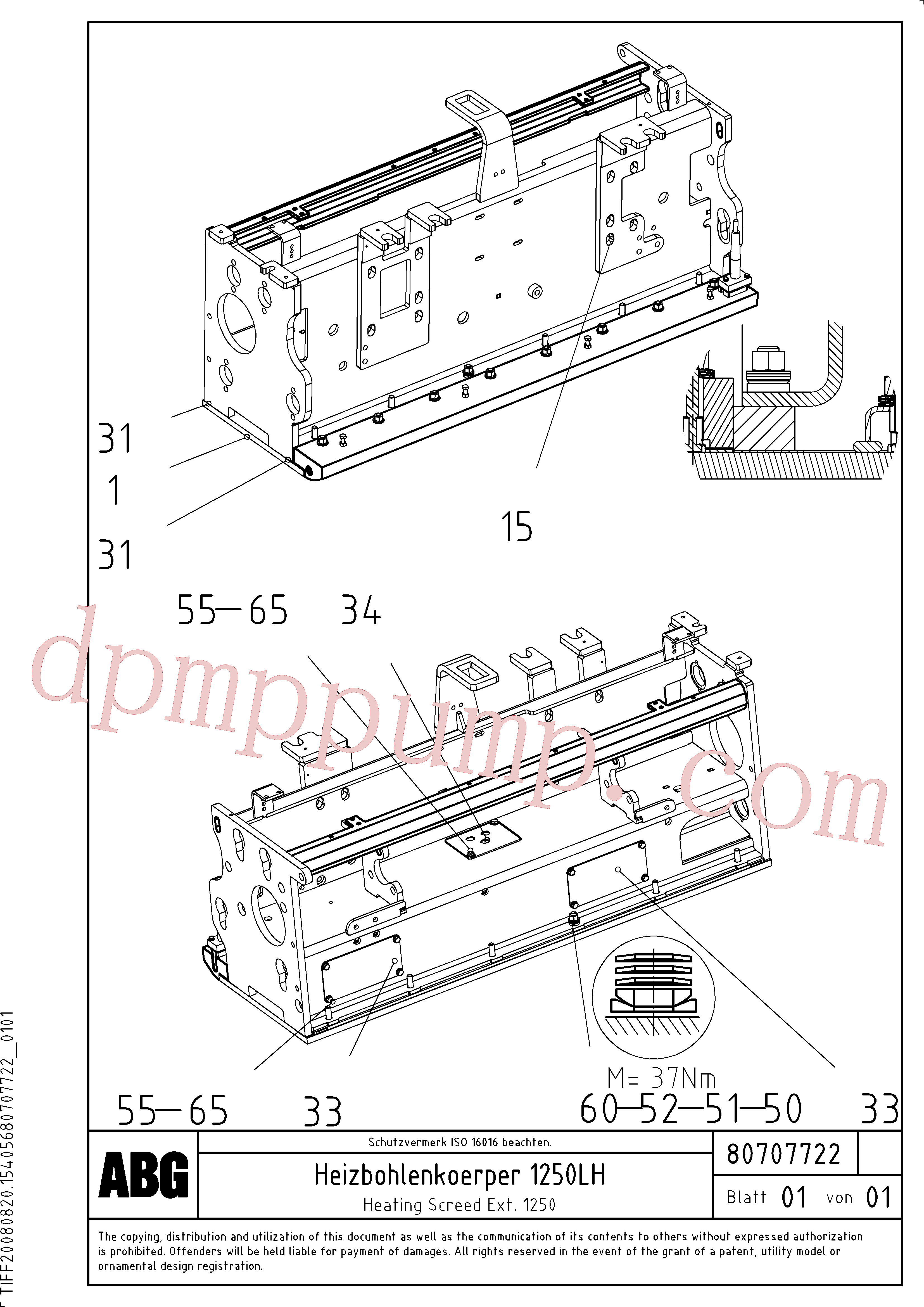 RM87905659 for Volvo Heated body for extension(1047300 assembly)