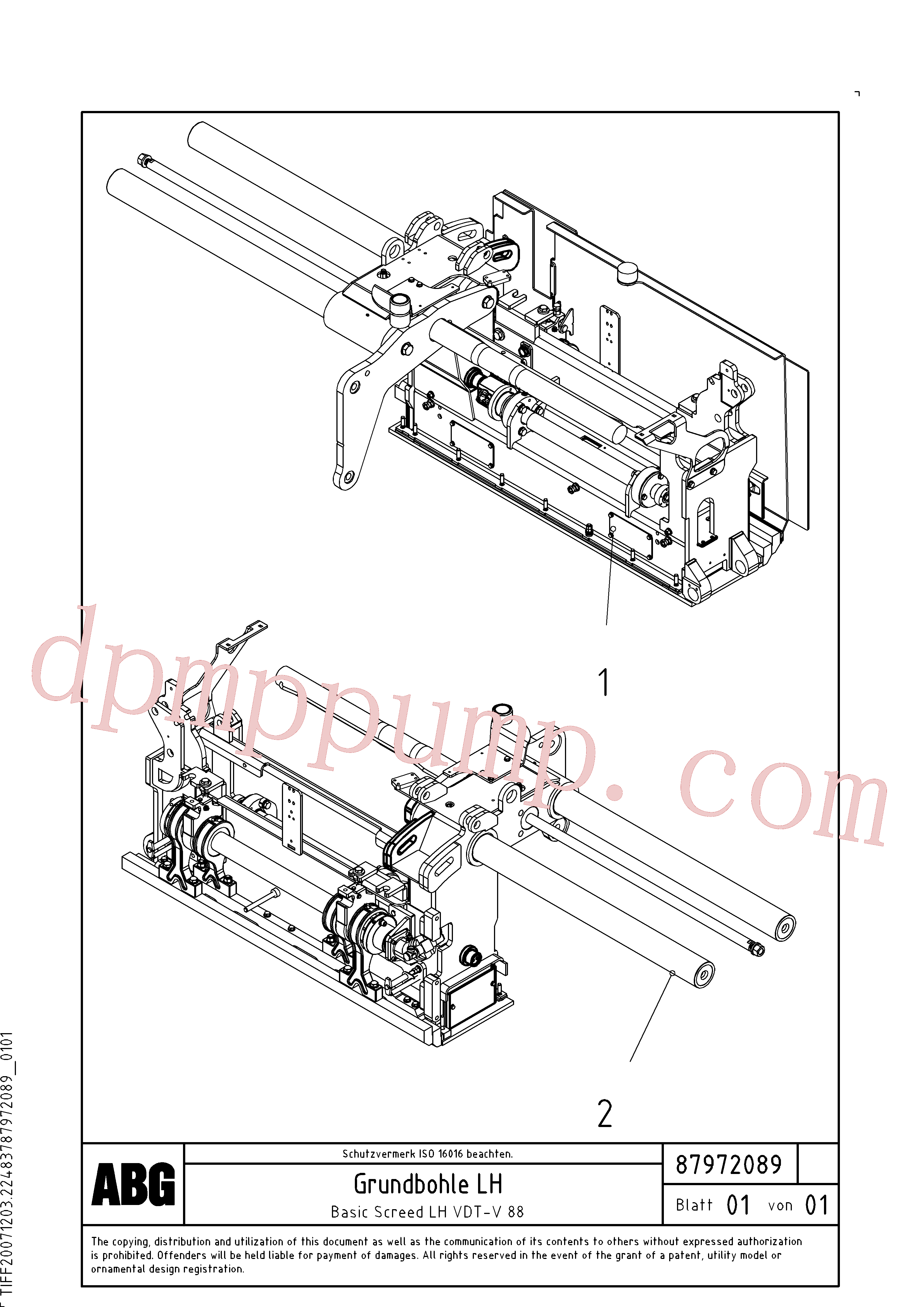 RM80667595 for Volvo Basic screed(1048165 assembly)