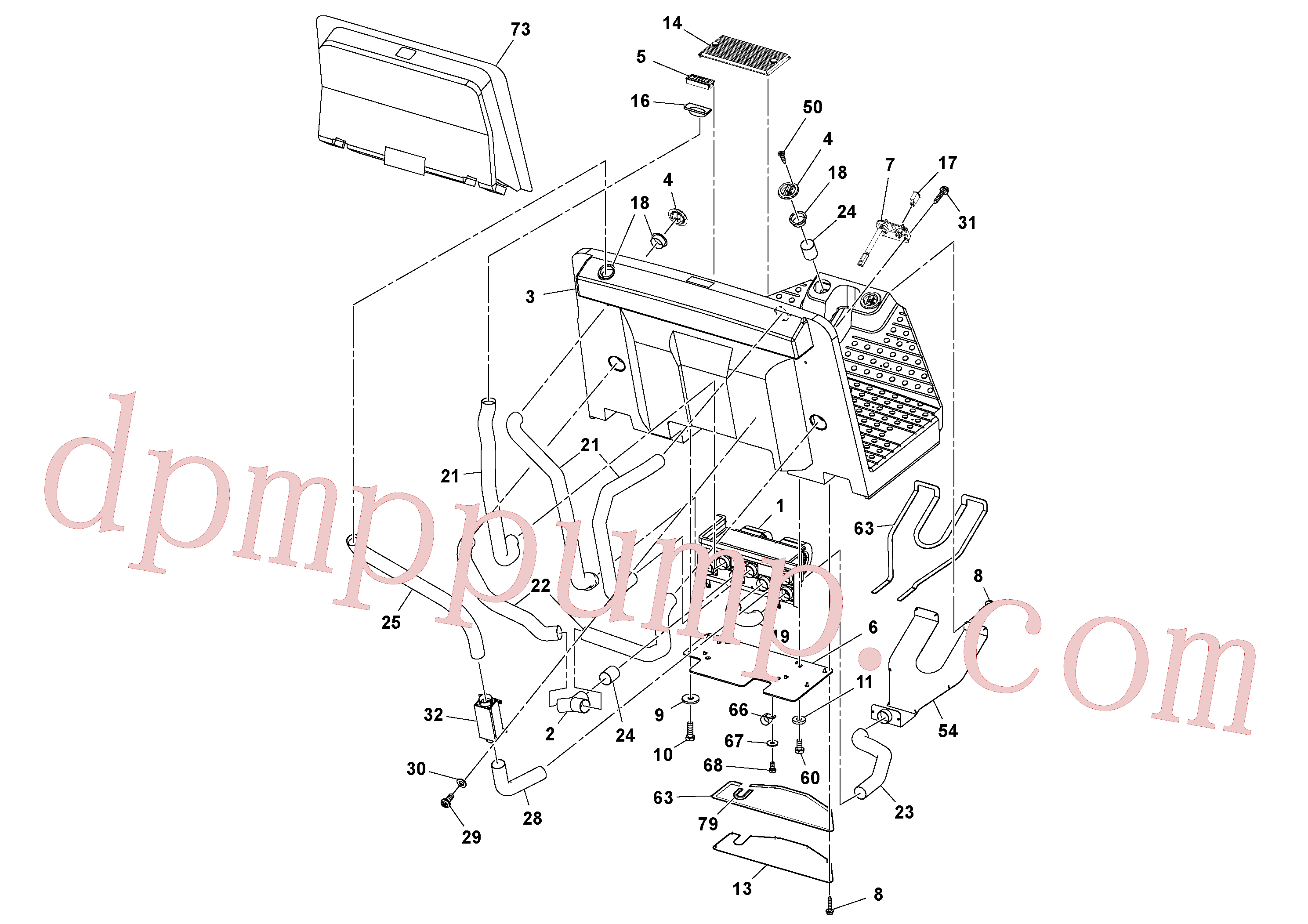 RM96728548 for Volvo Cab Heater Assembly(1054182 assembly)