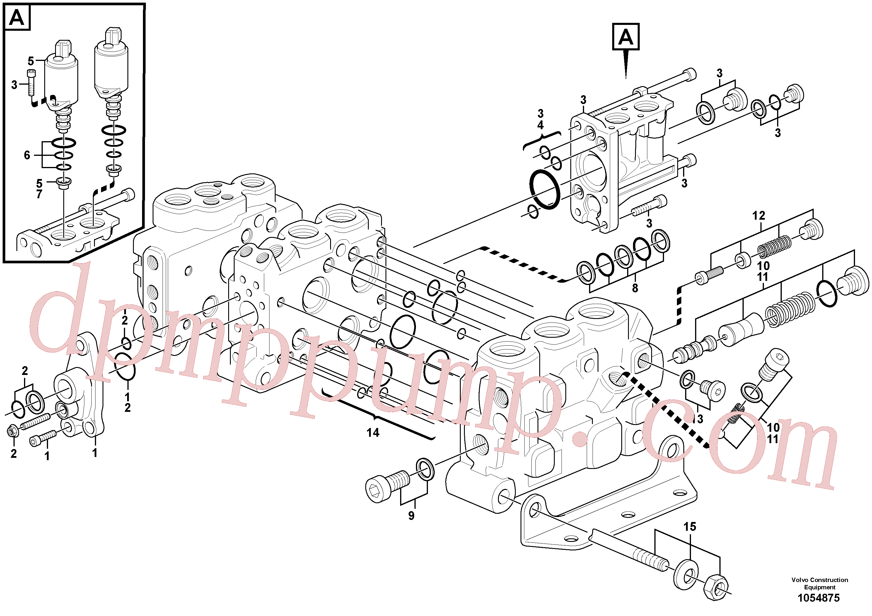 VOE15166036 for Volvo Control valve(1054875 assembly)