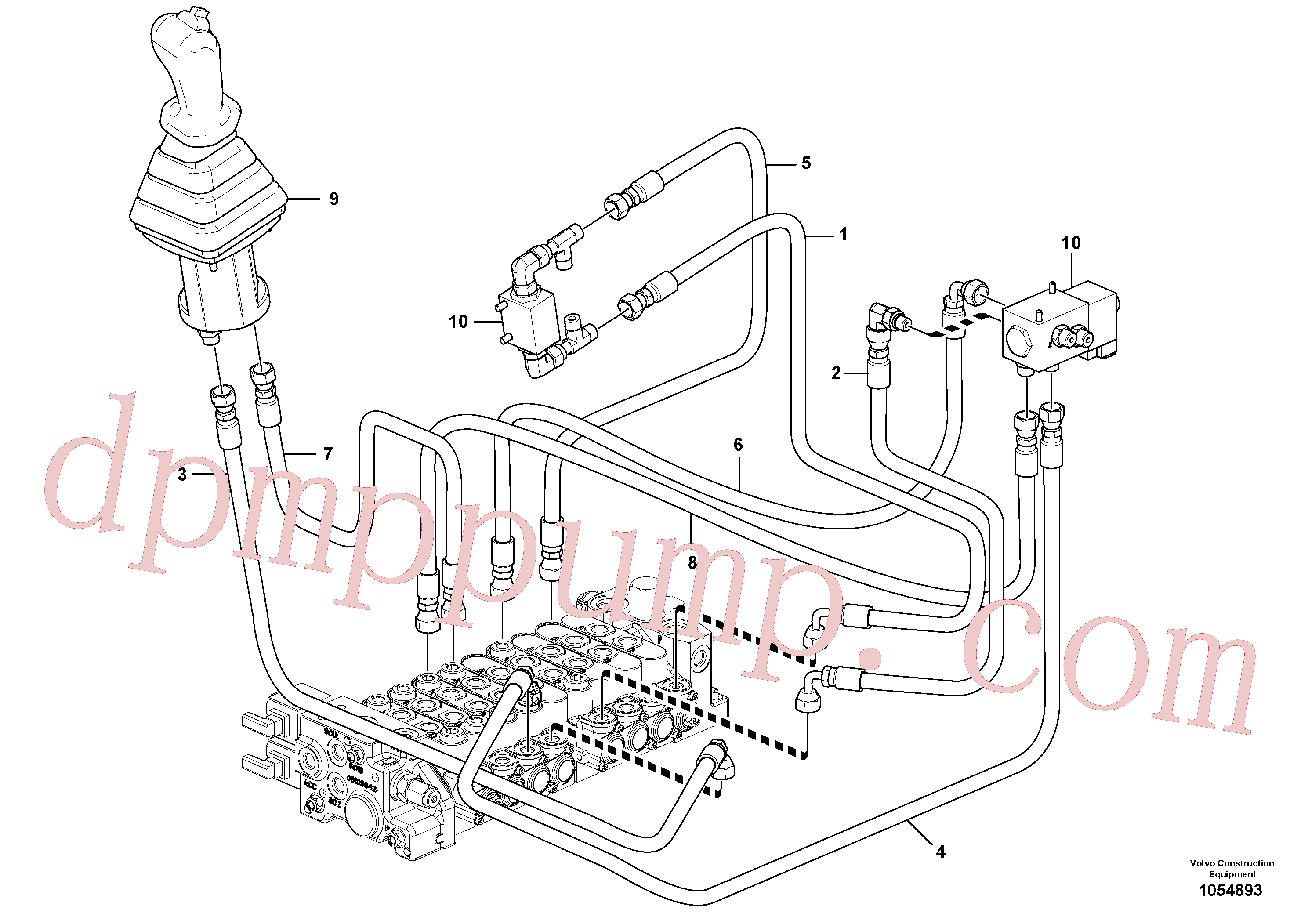 VOE936291 for Volvo Hydraulic circuit ( low pressure )(1054893 assembly)