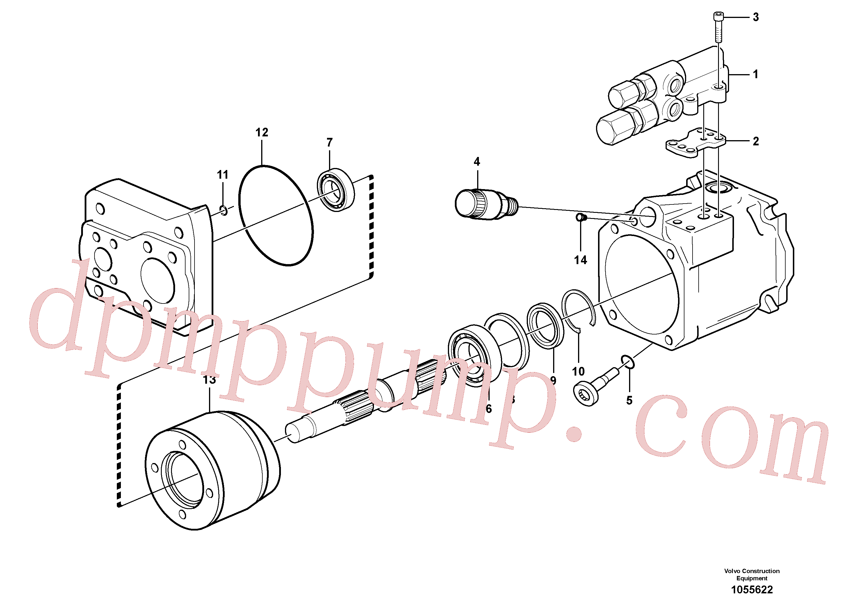 VOE15011528 for Volvo Hydraulic pump(1055622 assembly)