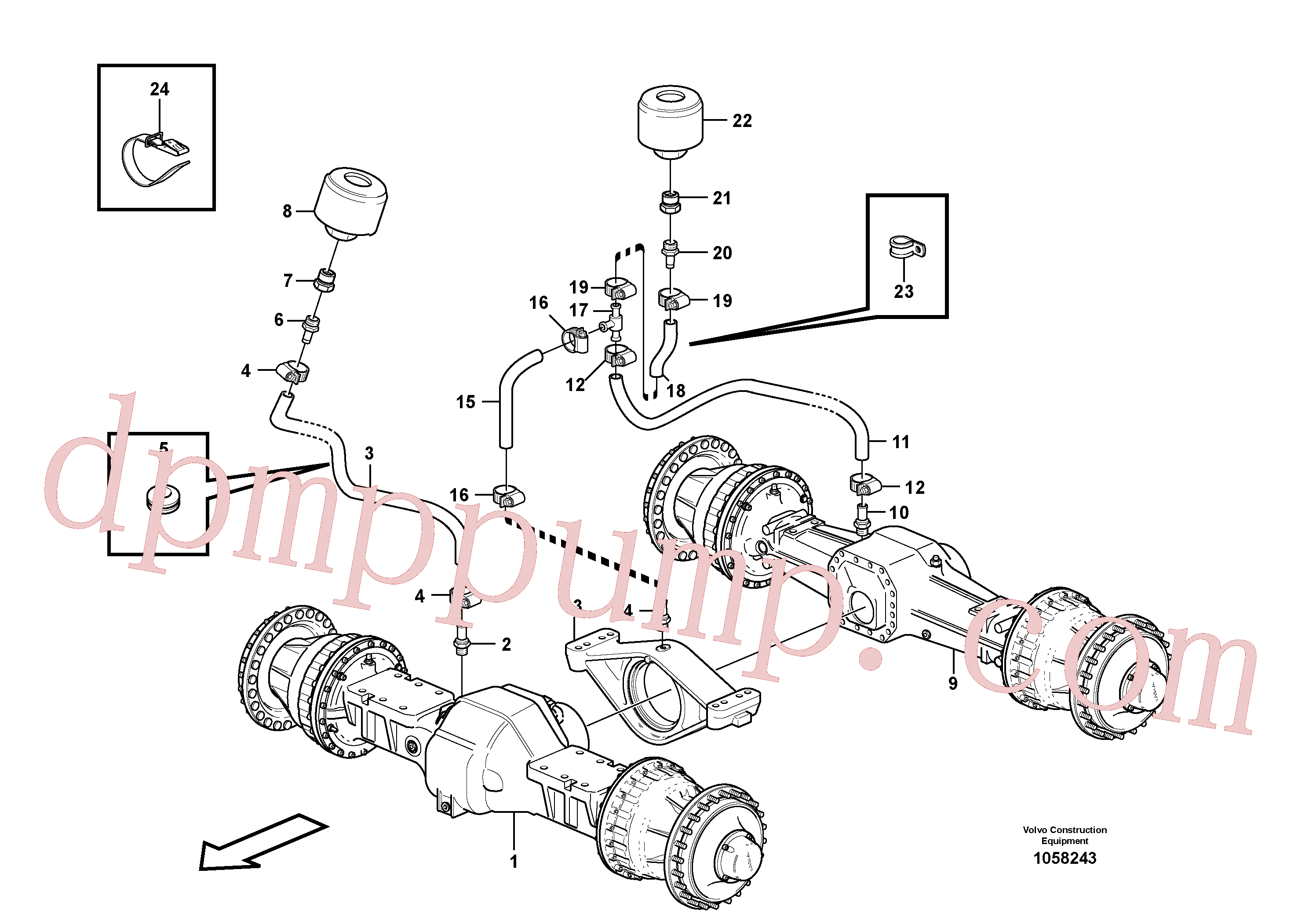 VOE13961192 for Volvo Venting, planet shafts(1058243 assembly)