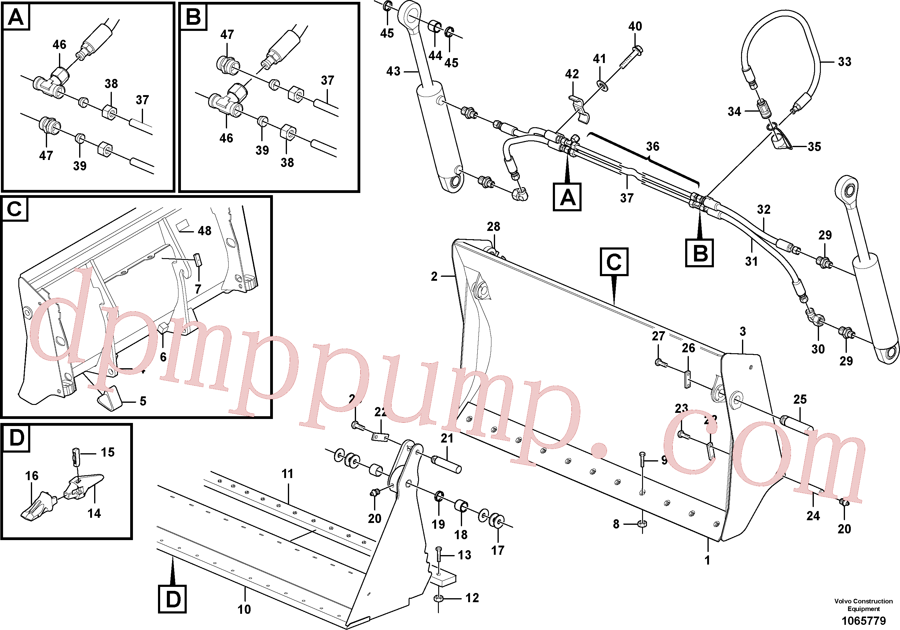 ZM1030071 for Volvo Combined bucket(1065779 assembly)
