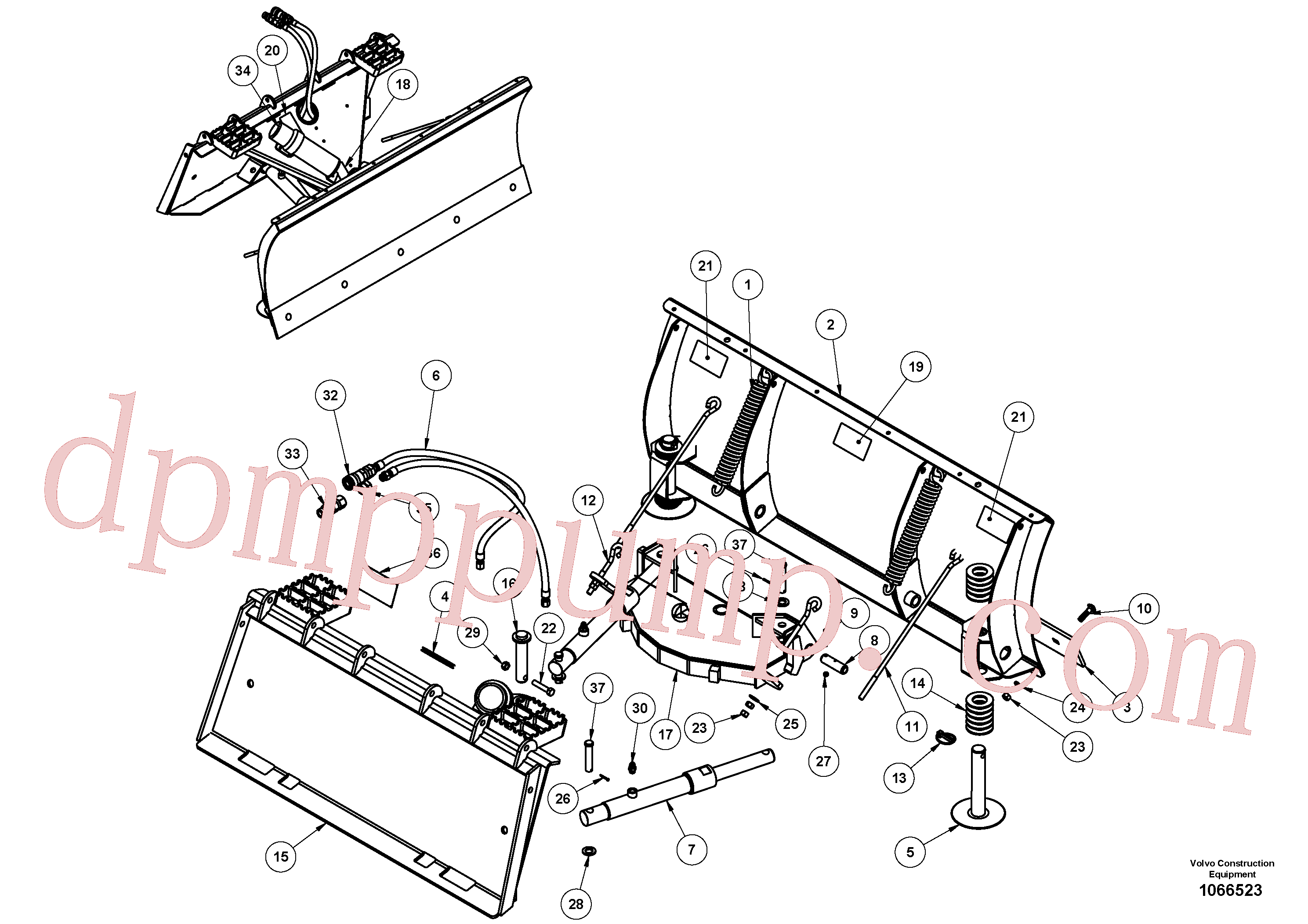 VOE16219297 for Volvo Snow blade(1066523 assembly)