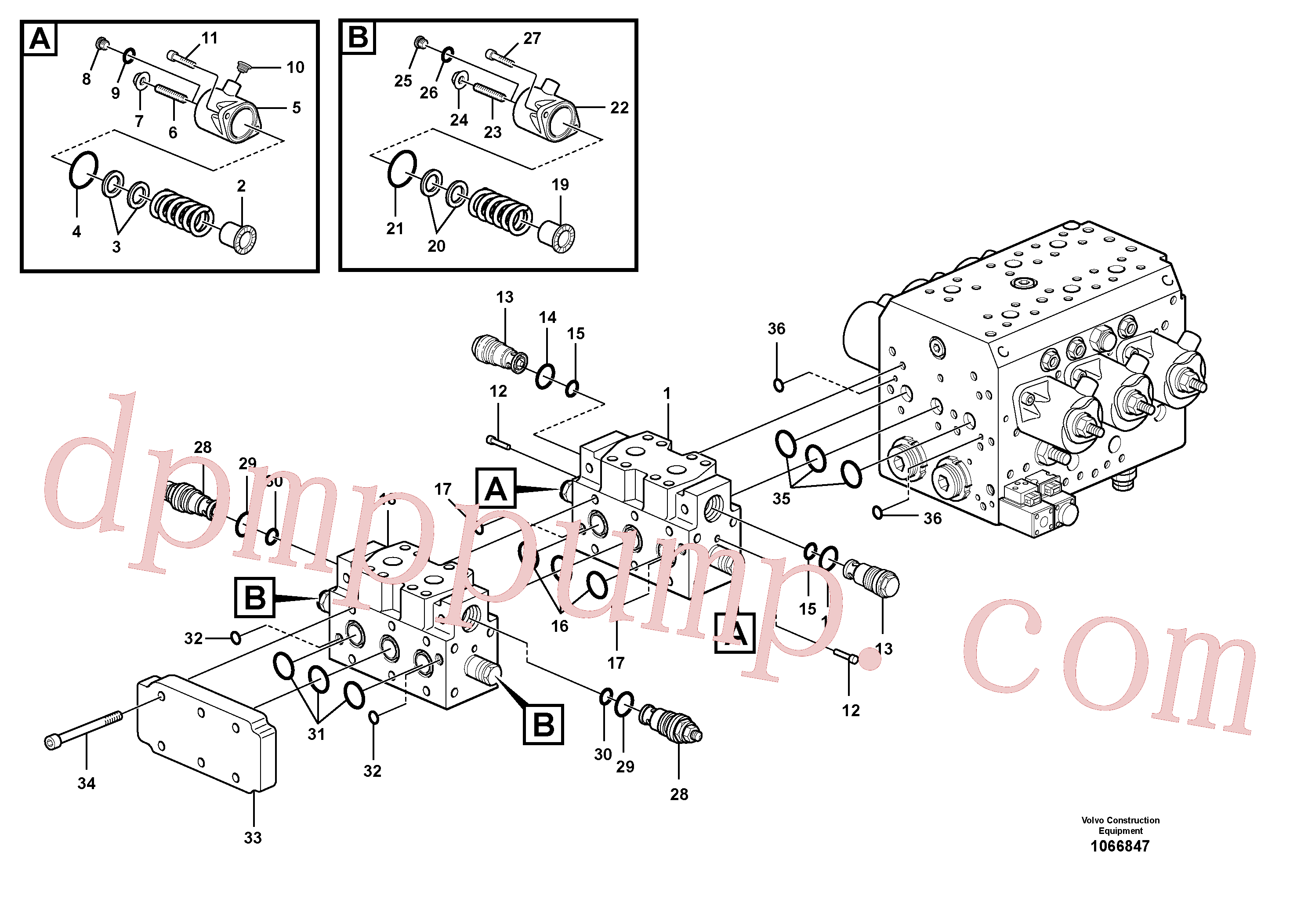 VOE15028328 for Volvo Hydraulic valve(1066847 assembly)