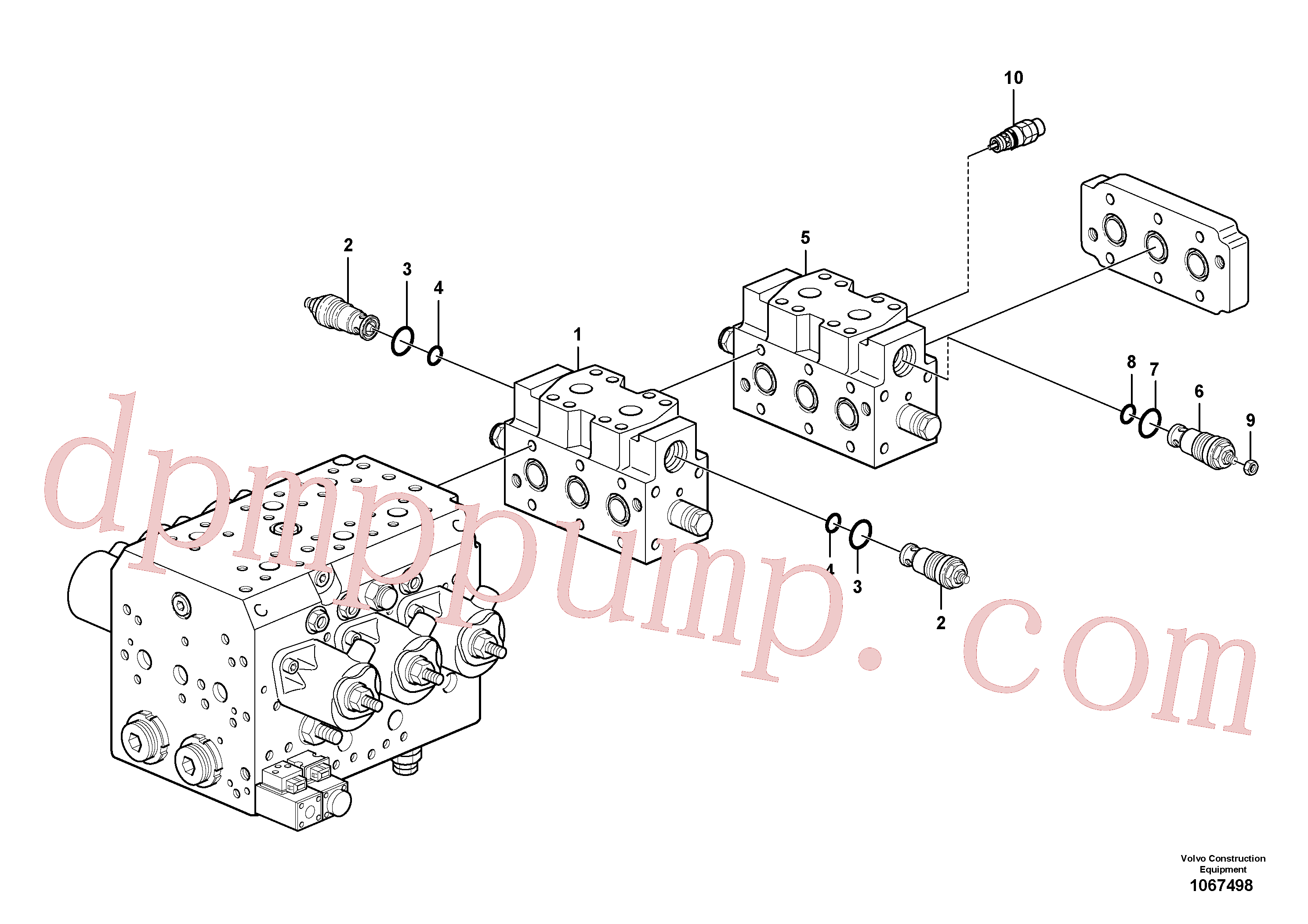 VOE15028328 for Volvo Valve(1067498 assembly)