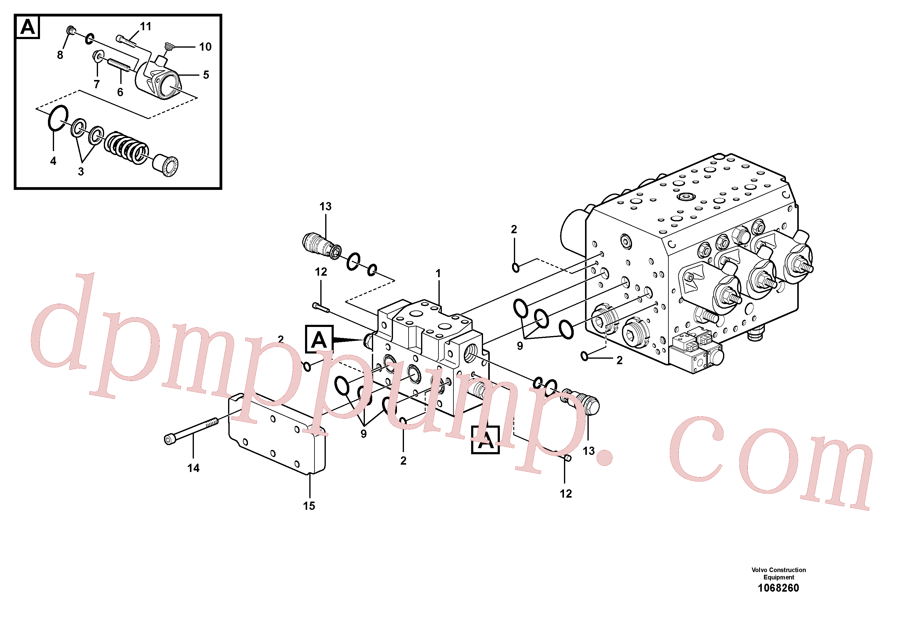 VOE11711006 for Volvo Hydraulic valve(1068260 assembly)