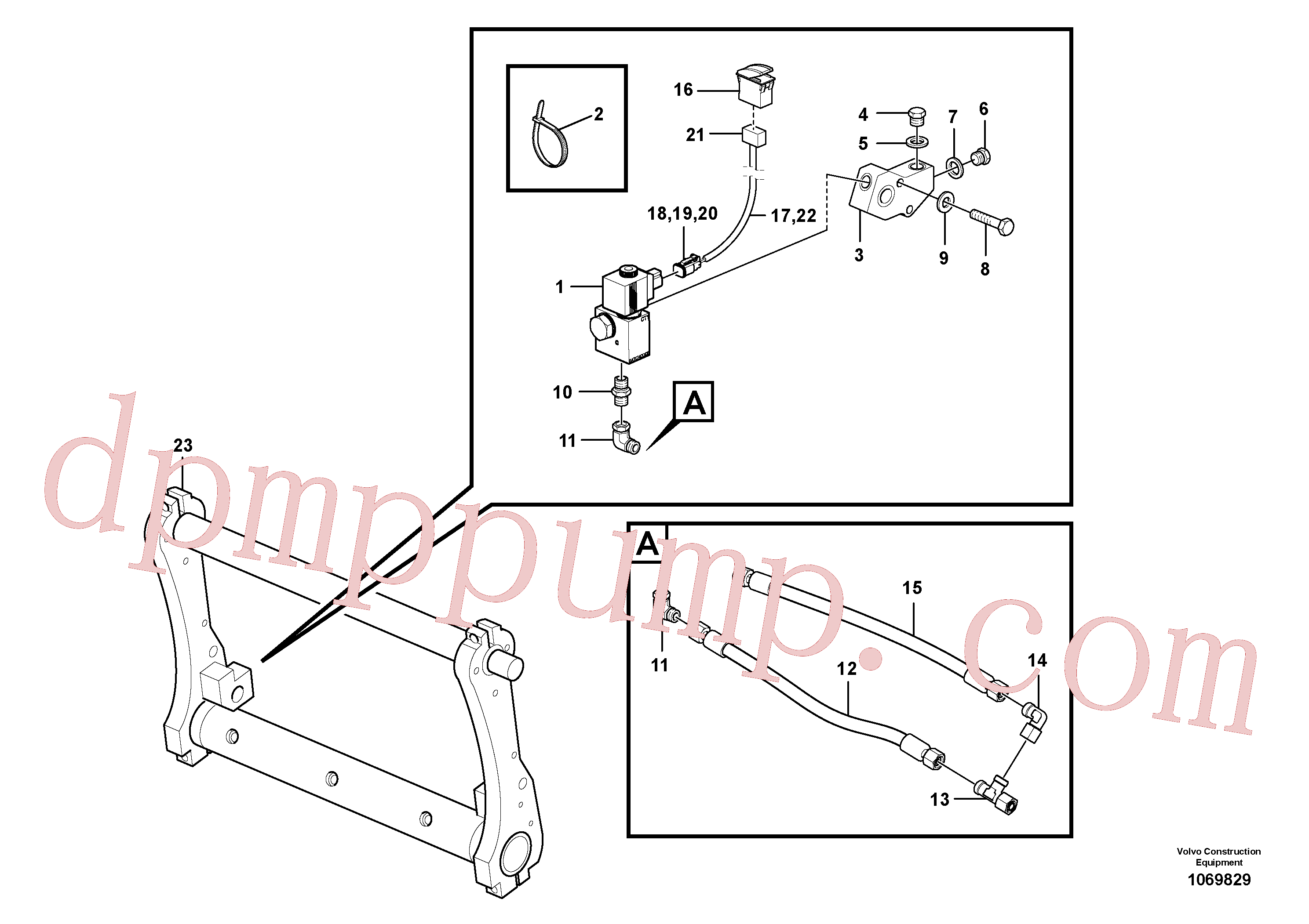 ZM7099401 for Volvo Locking device(1069829 assembly)