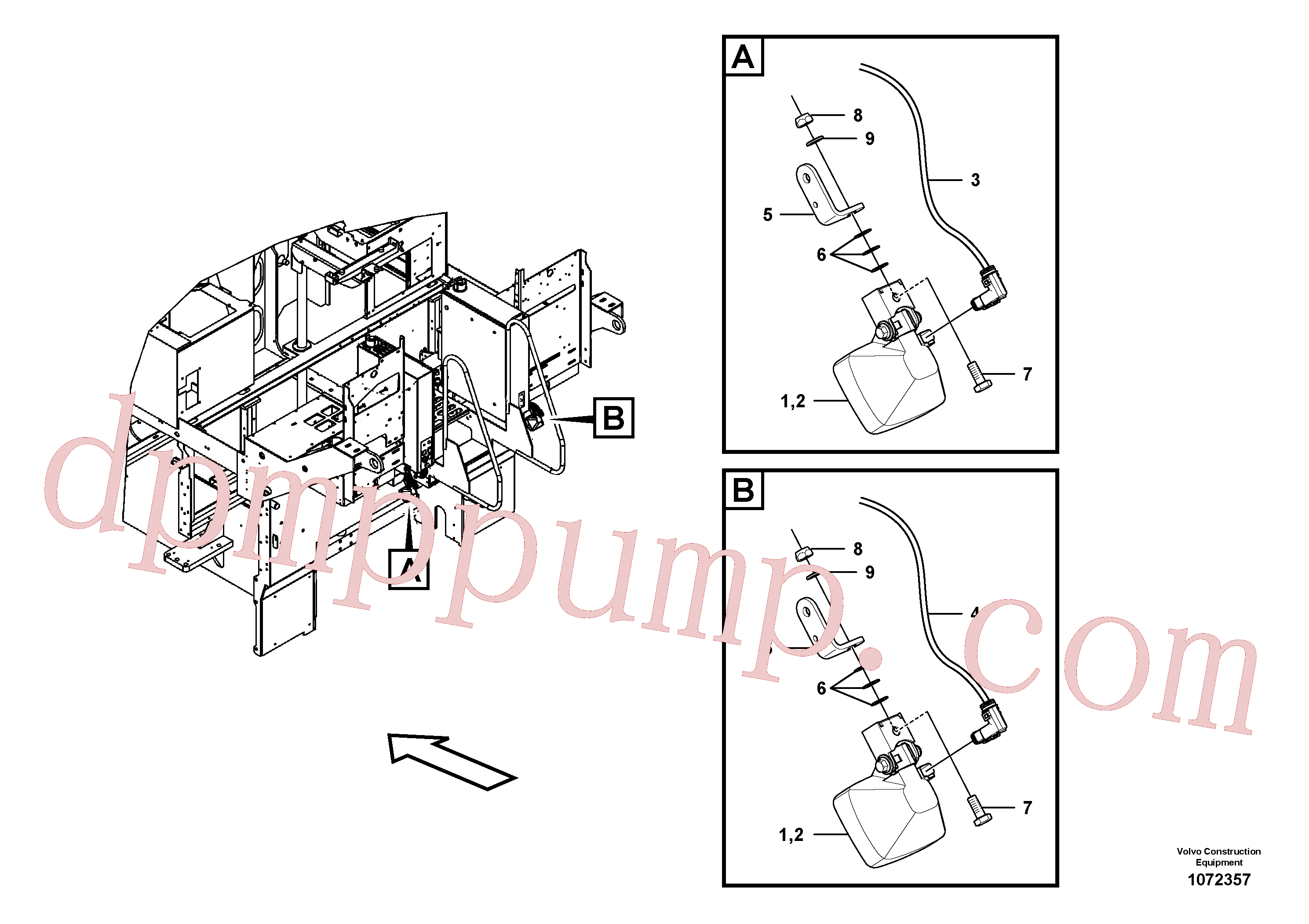 RM96704309 for Volvo Auger lighting(1072357 assembly)