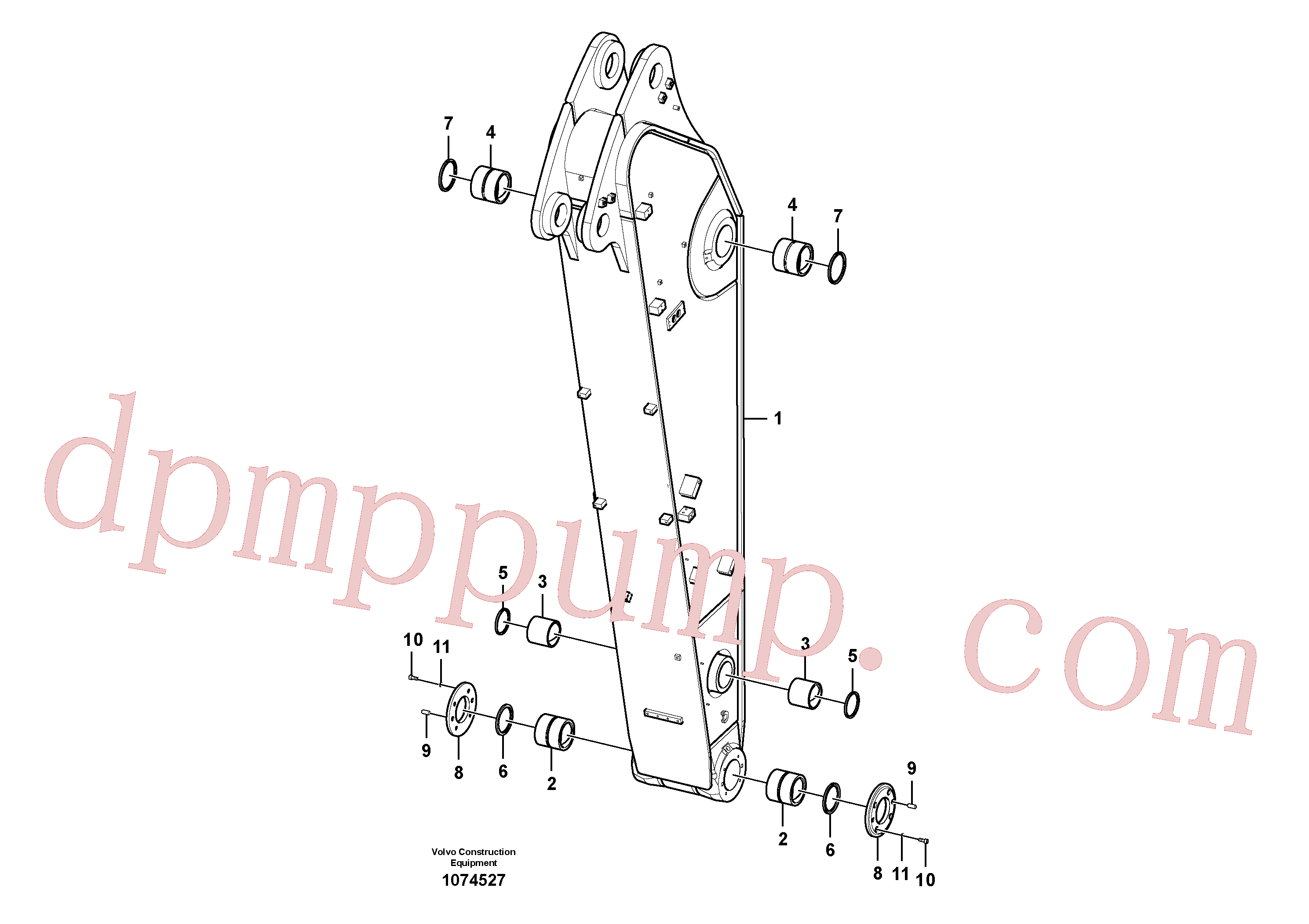 VOE14547982 for Volvo Dipper arm(1074527 assembly)