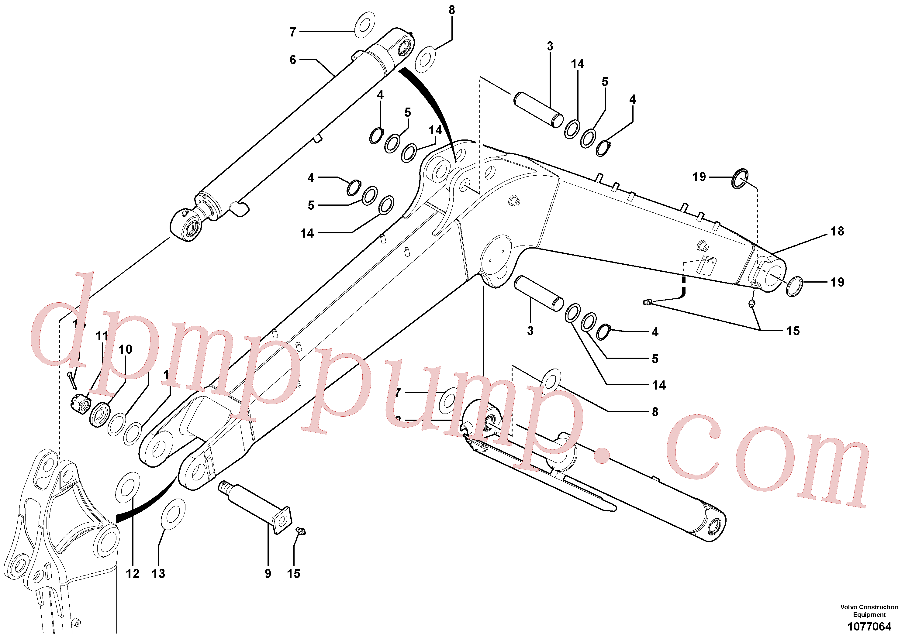 VOE11802309 for Volvo Boom(1077064 assembly)