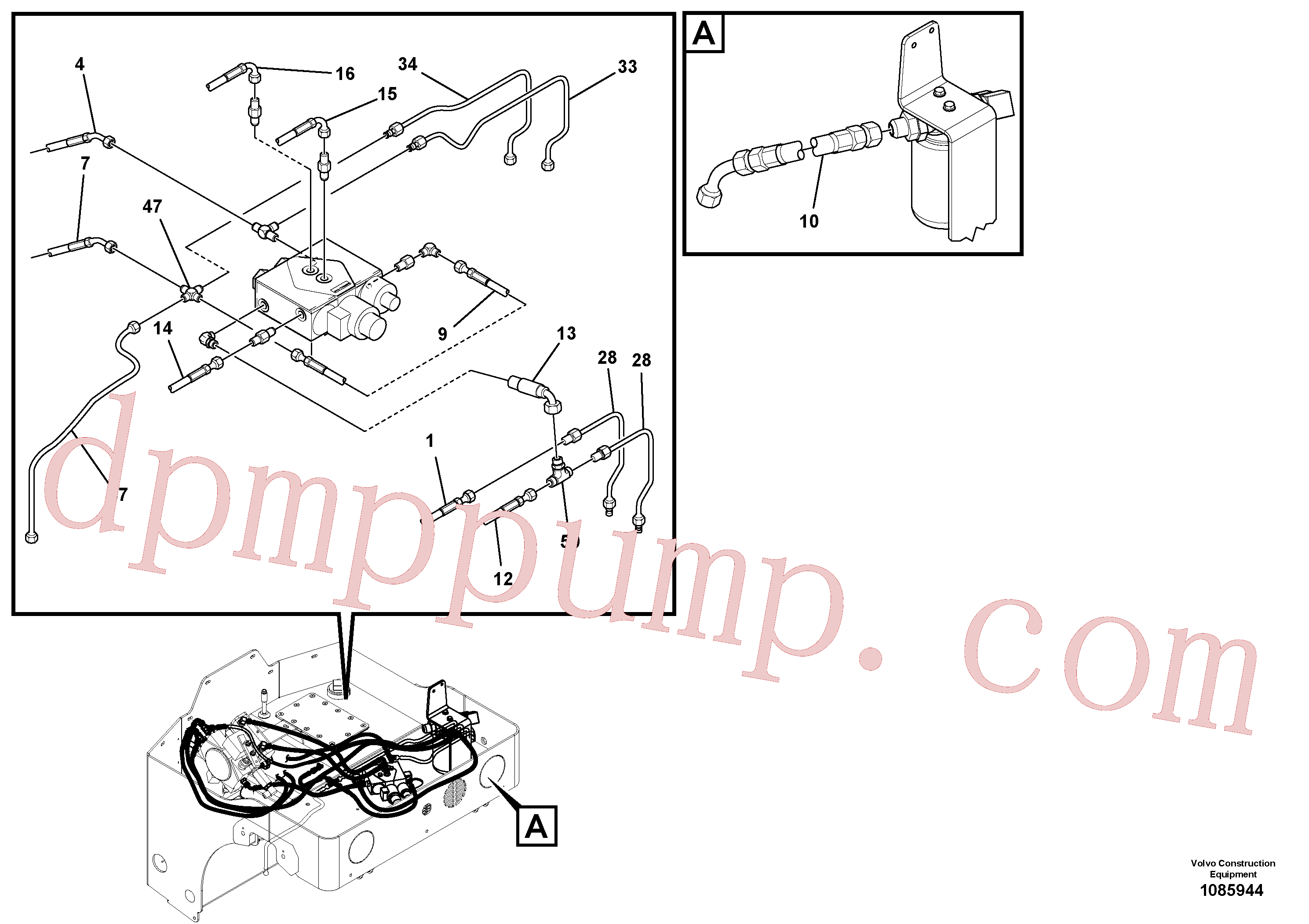 RM59219675 for Volvo Hydraulic Hoses/Tube Clamp Installation(1085944 assembly)