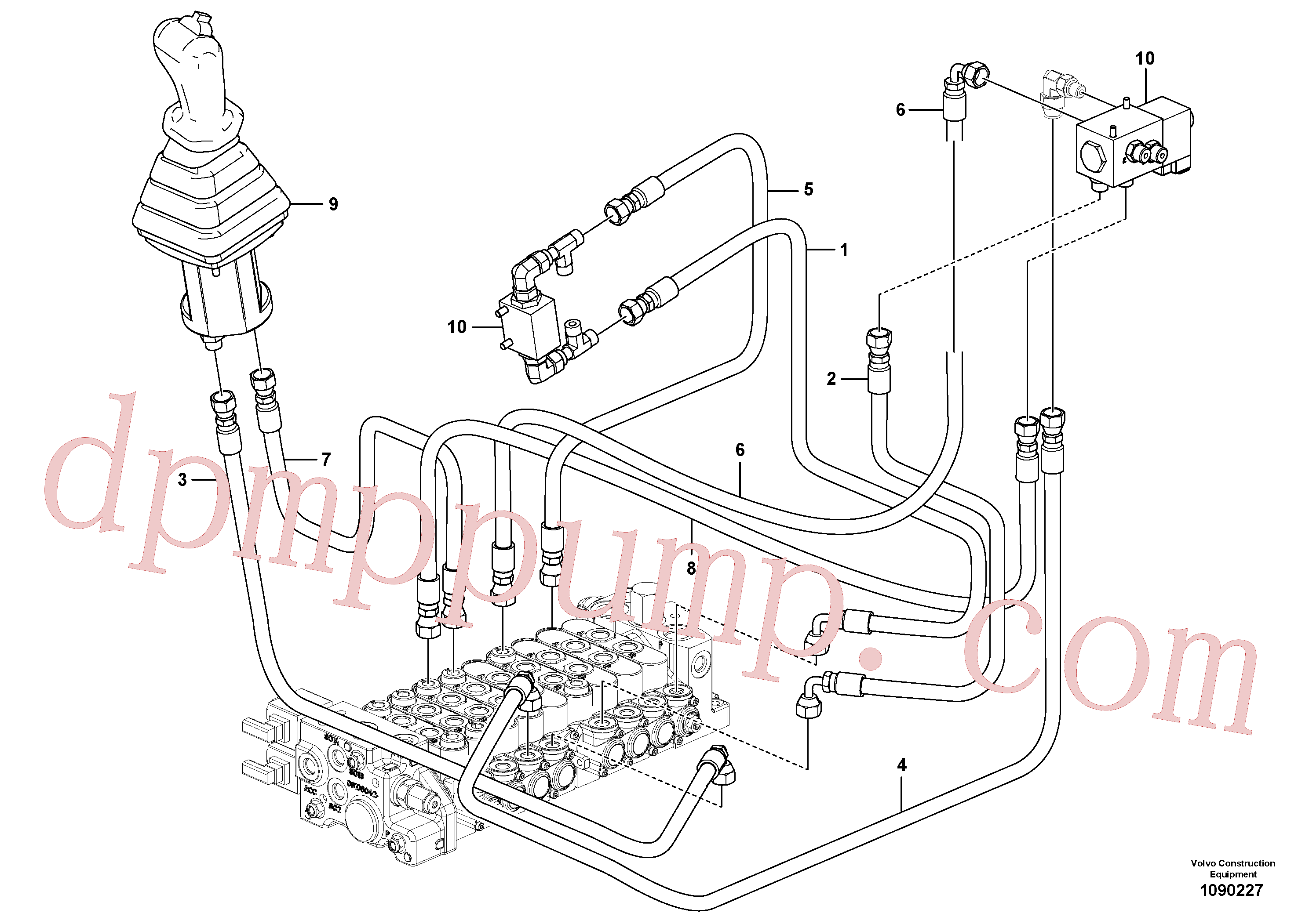 VOE936291 for Volvo Hydraulic circuit ( low pressure )(1090227 assembly)