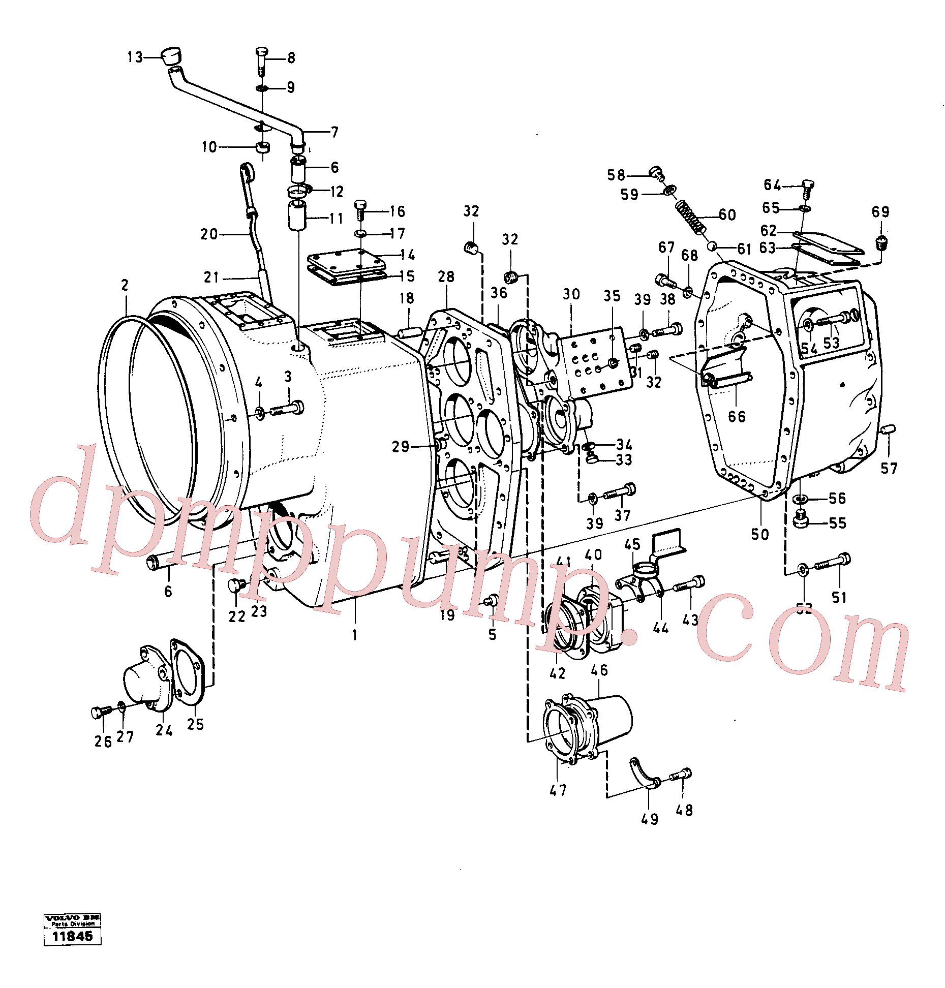 VOE955526 for Volvo Housing,covers and boltings(11845 assembly)