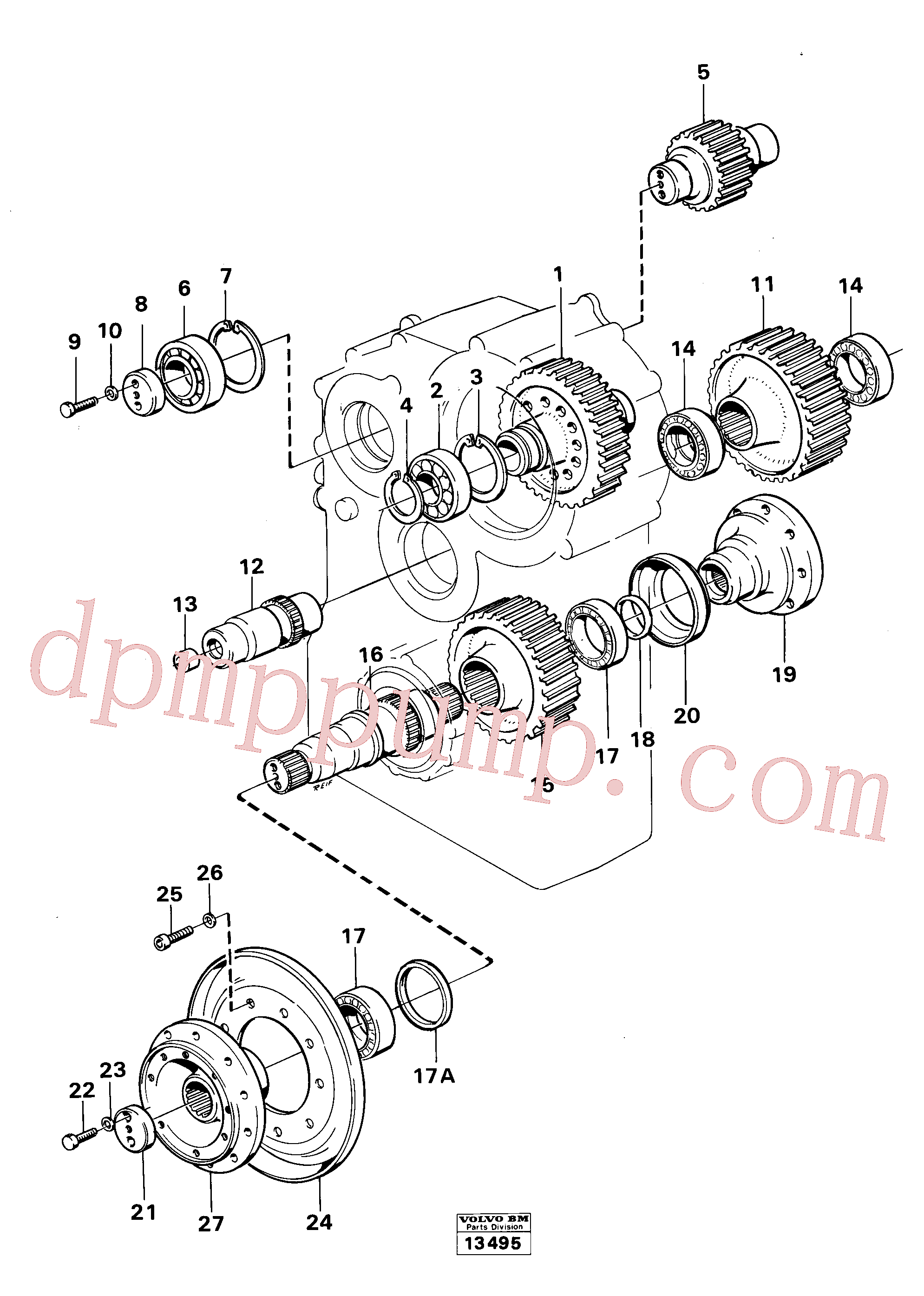 SA9541-02100 for Volvo Dropbox gears and shafts(13495 assembly)