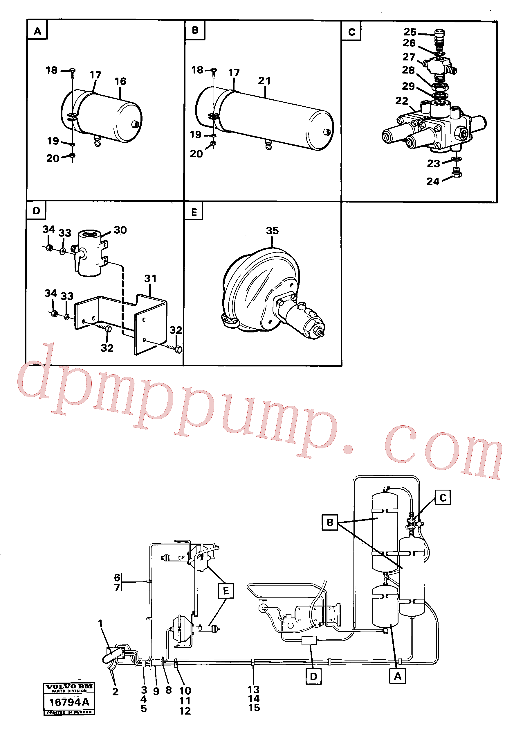 VOE955295 for Volvo Pneumatic system with componets(16794A assembly)