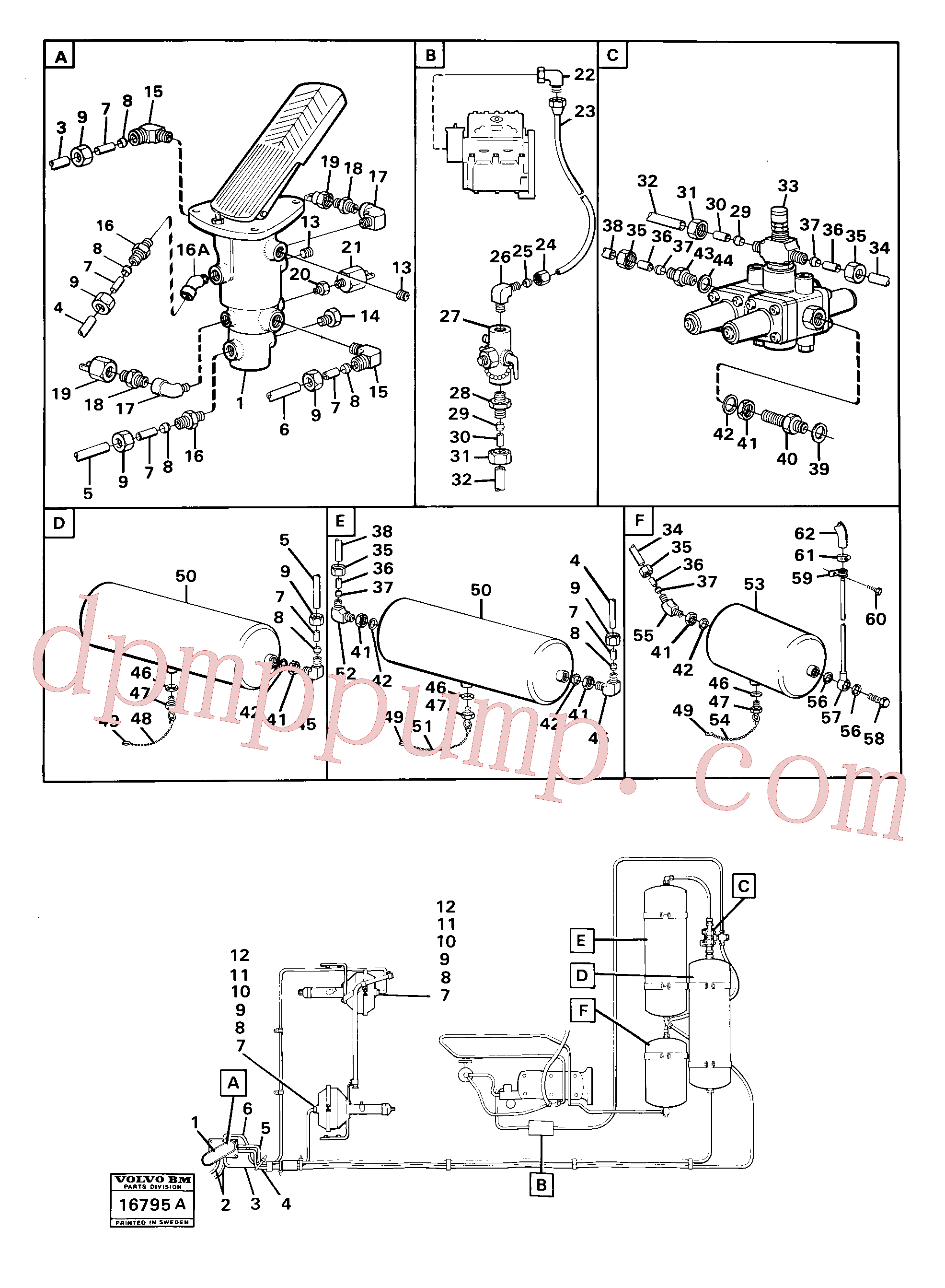 ZM8099578 for Volvo Pneumatic system pipes(16795A assembly)