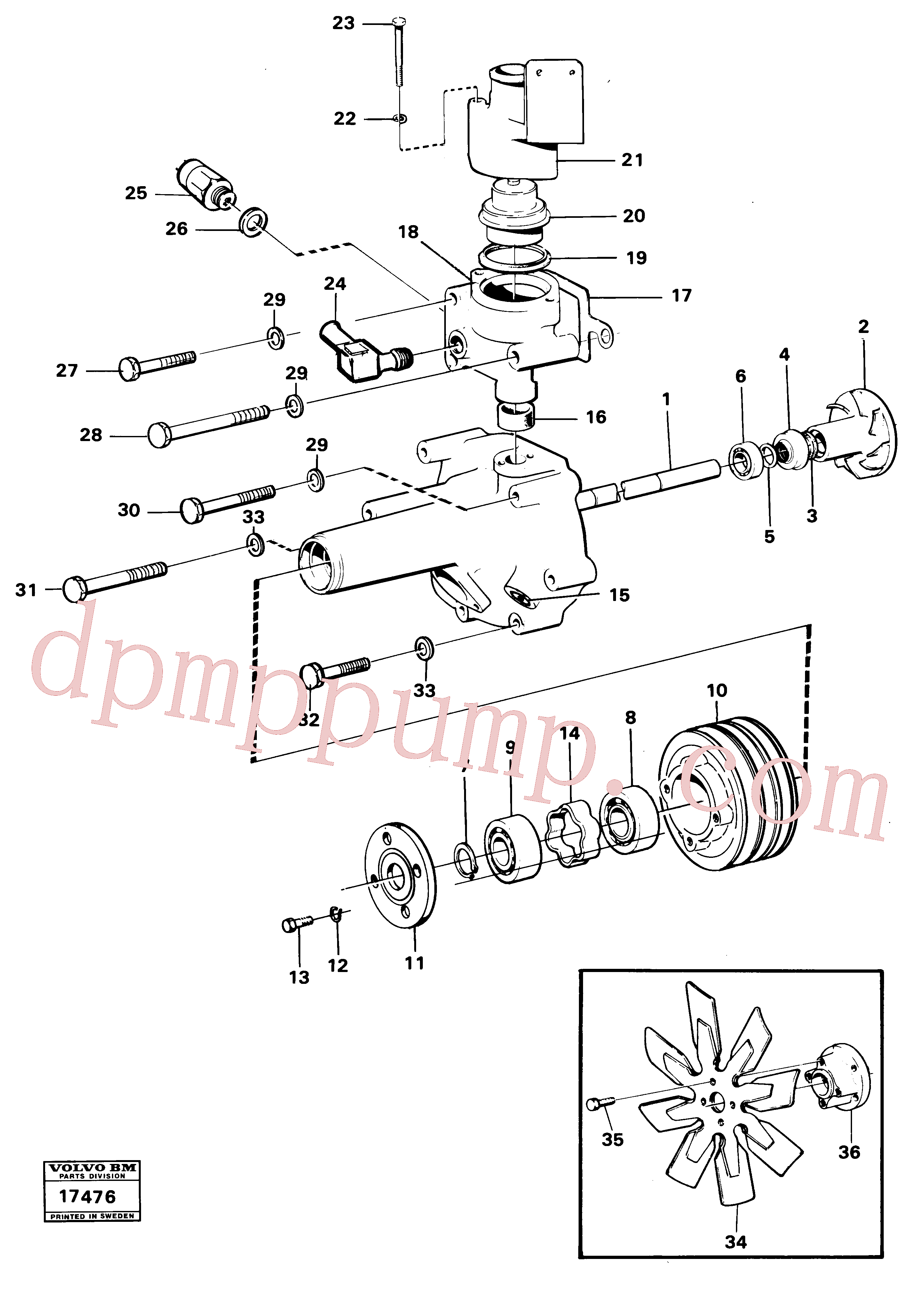 ZM8099578 for Volvo Water pump(17476 assembly)
