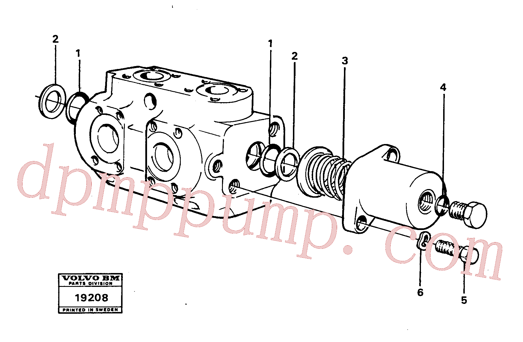 VOE6631316 for Volvo Hydraulic valve.(19208 assembly)